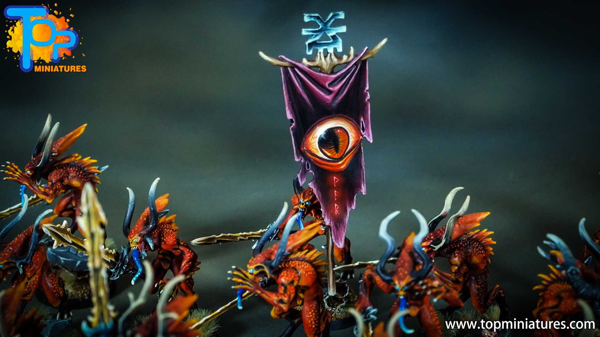 khorne bloodletters painted eye freehand