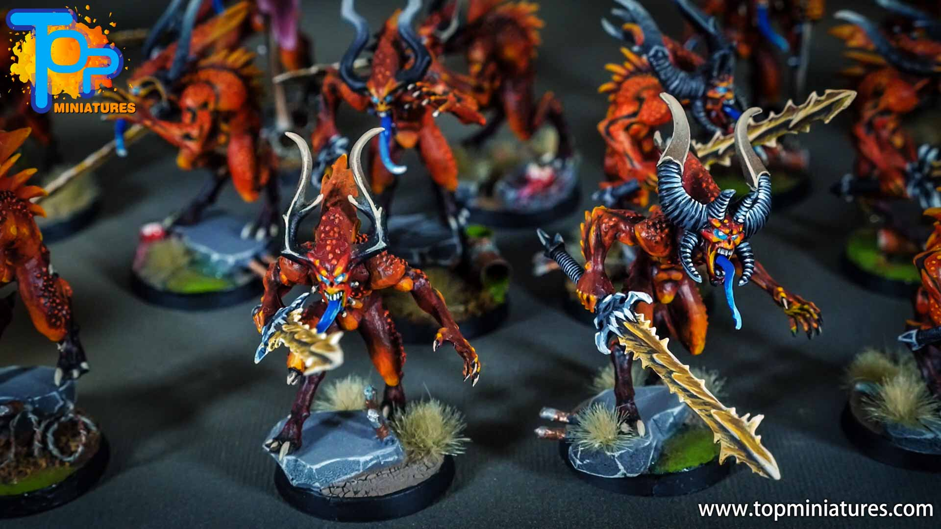 khorne bloodletters painted freehand (7)