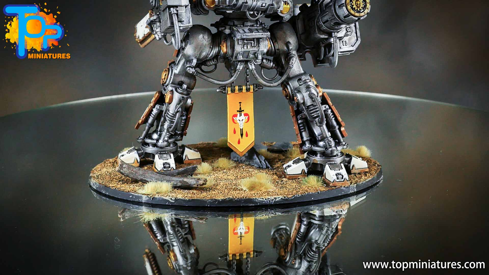 painted imperial knight weathering chipped paint (4)