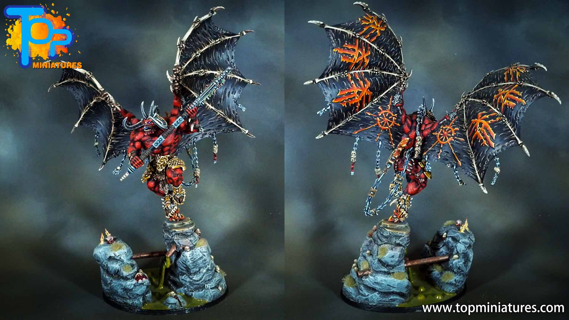 painted khorne bloodthirster (3)