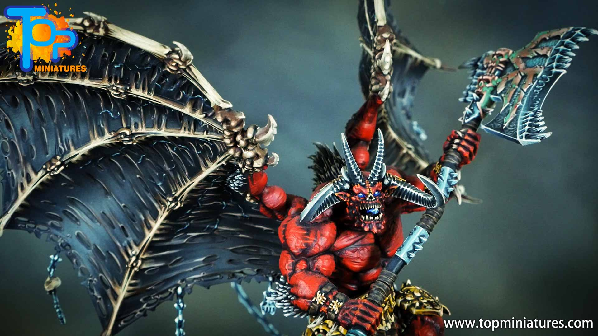 painted khorne bloodthirster (5)