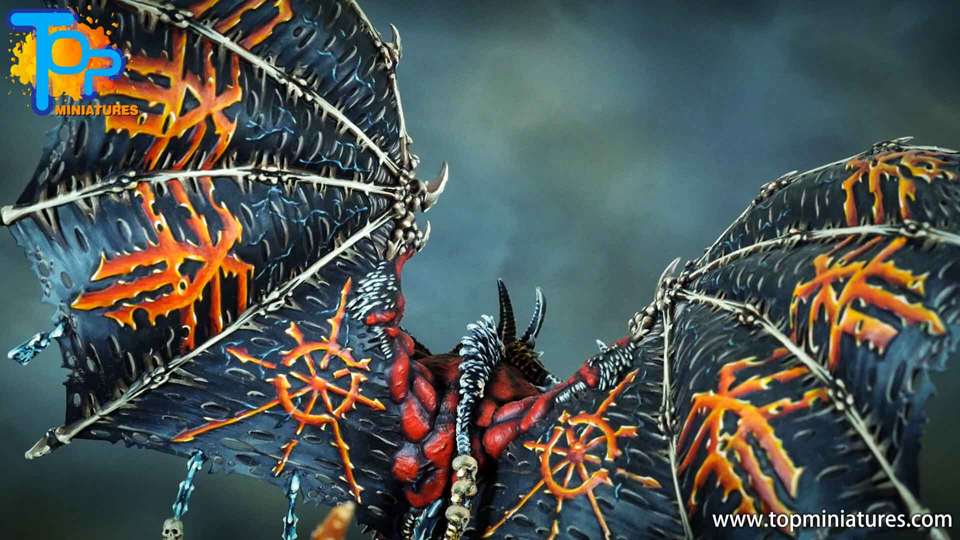 painted khorne bloodthirster wings