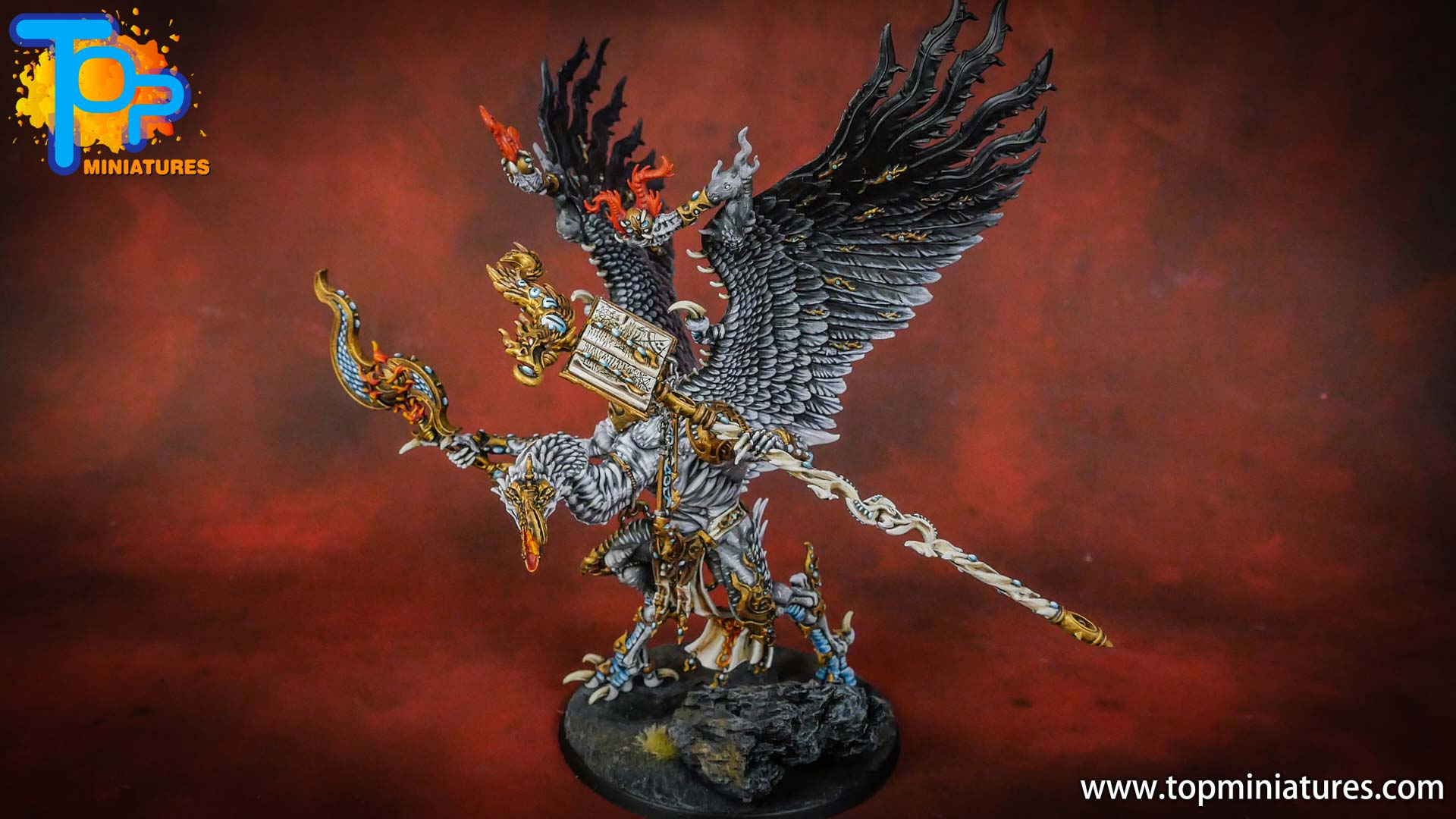 painted tzeentch lord of change (2)