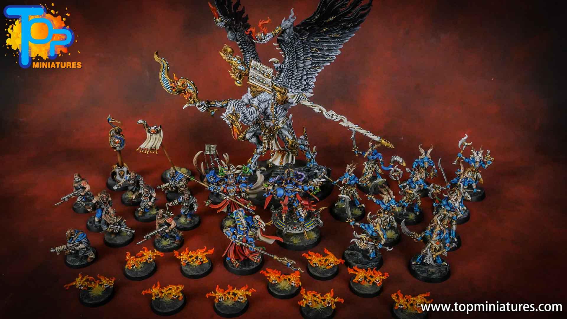 painted tzeentch warhammer 40k army (1)