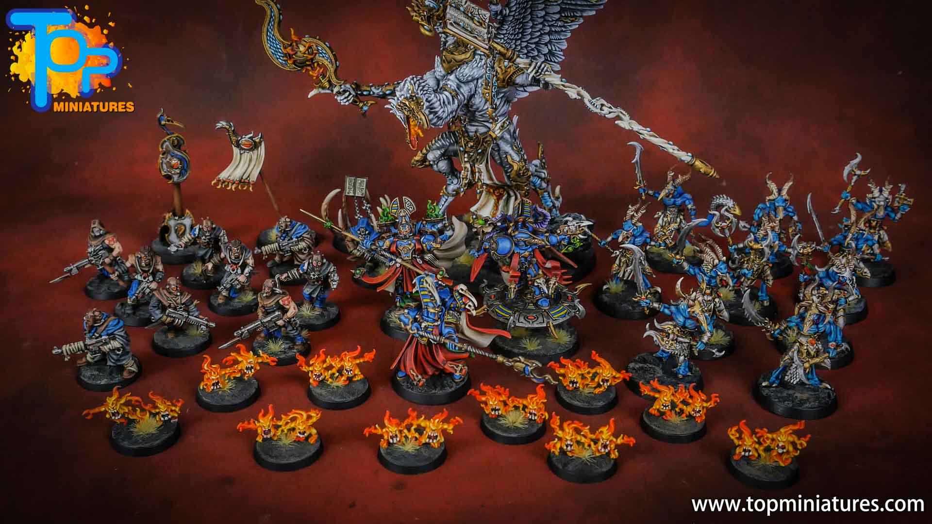 painted tzeentch warhammer 40k army (2)
