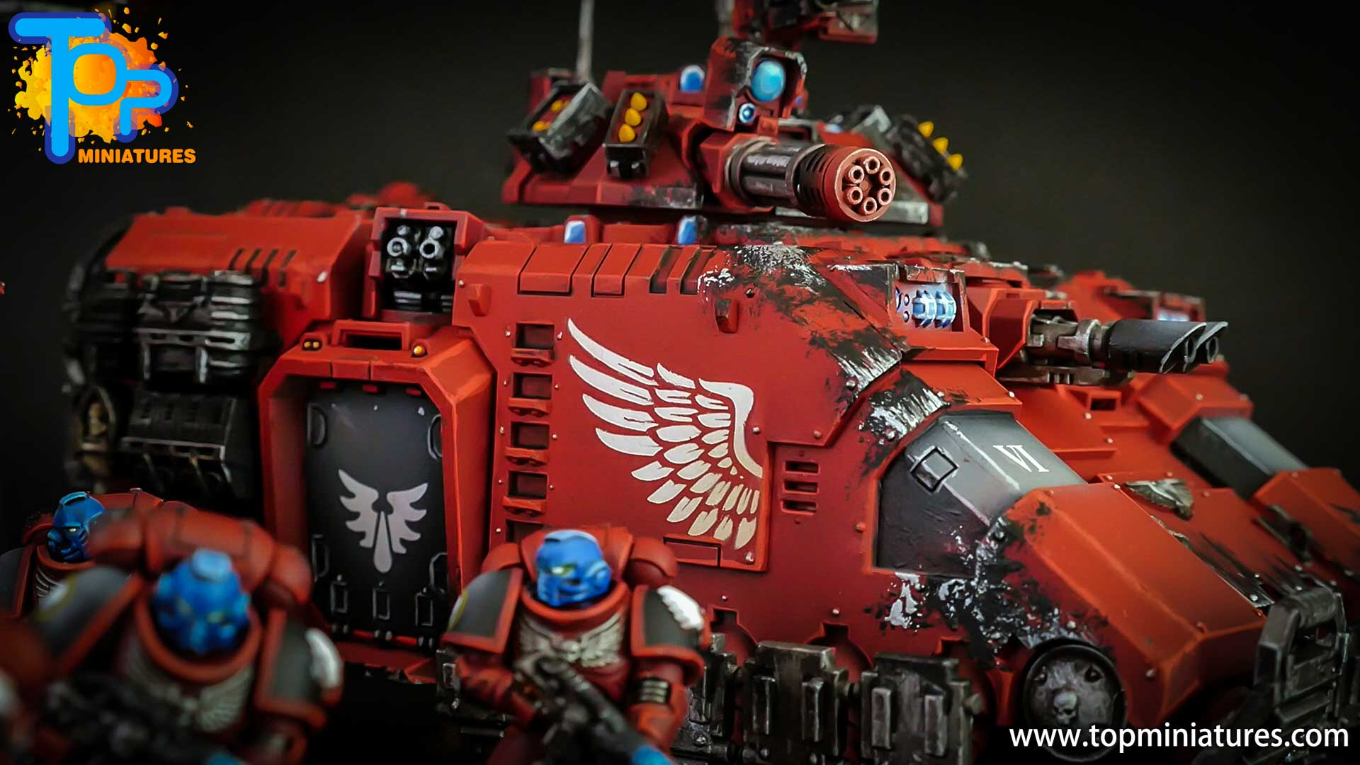 primaris blood angels repulsor tank (2)