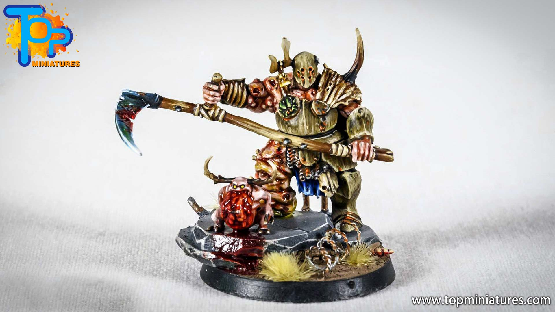 putrid blightkings of nurgle painted (2)