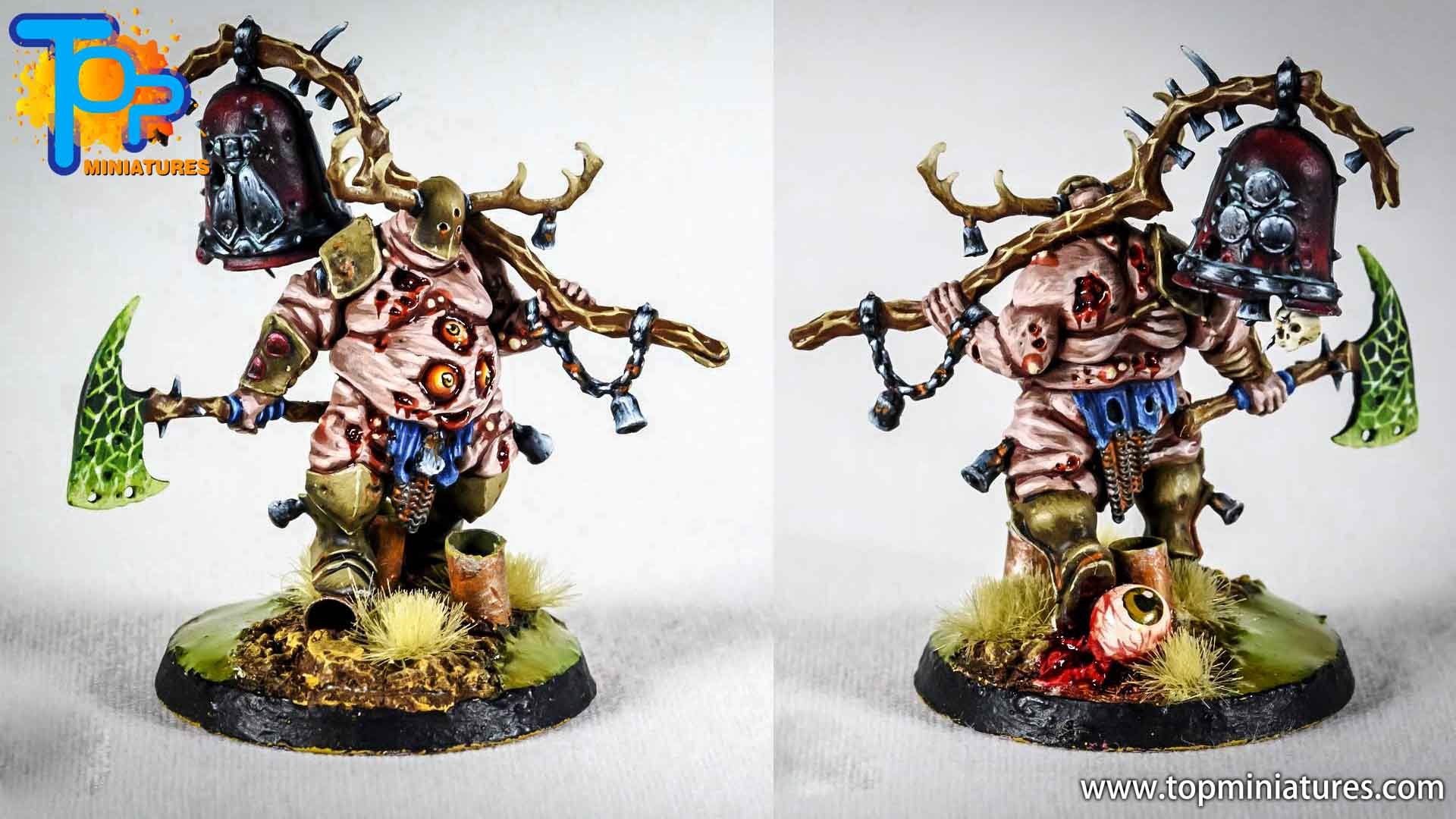 putrid blightkings of nurgle painted (6)