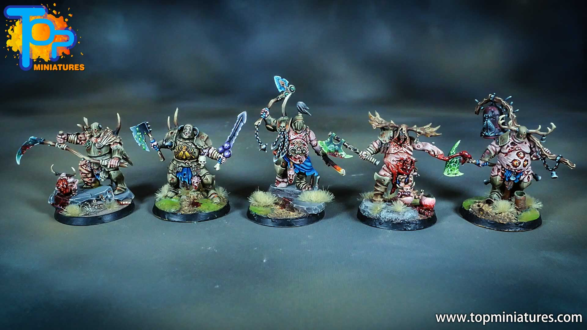 putrid blightkings of nurgle painted