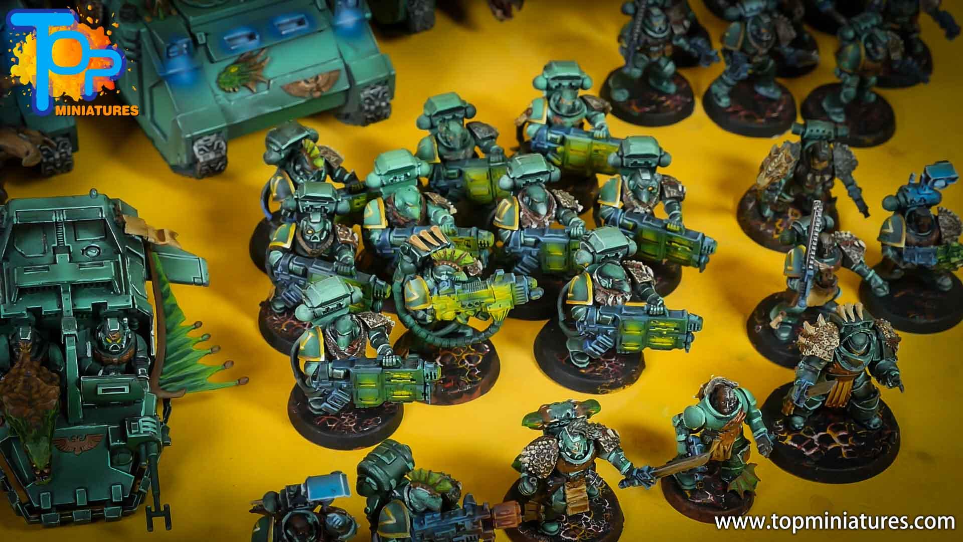 salamanders space marines gravcannon devastators