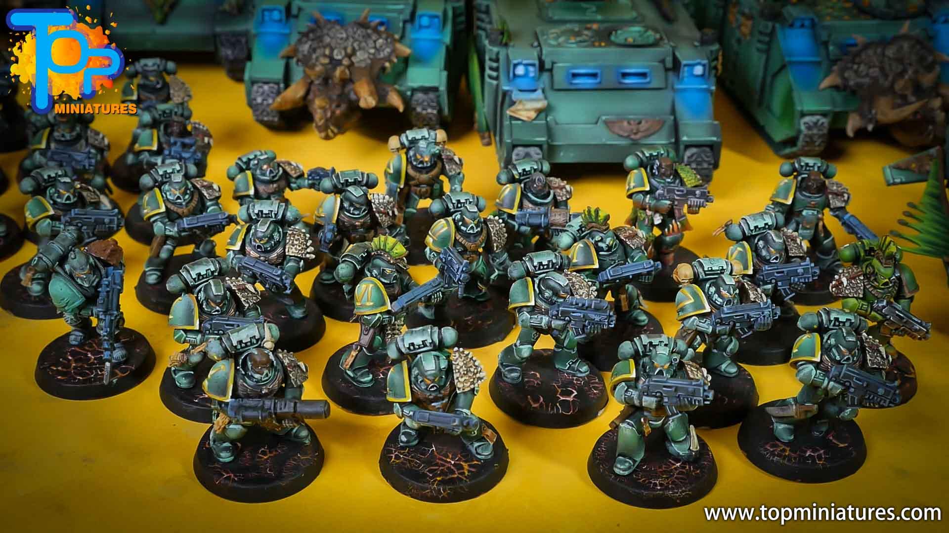 salamanders space marines painted army (1)