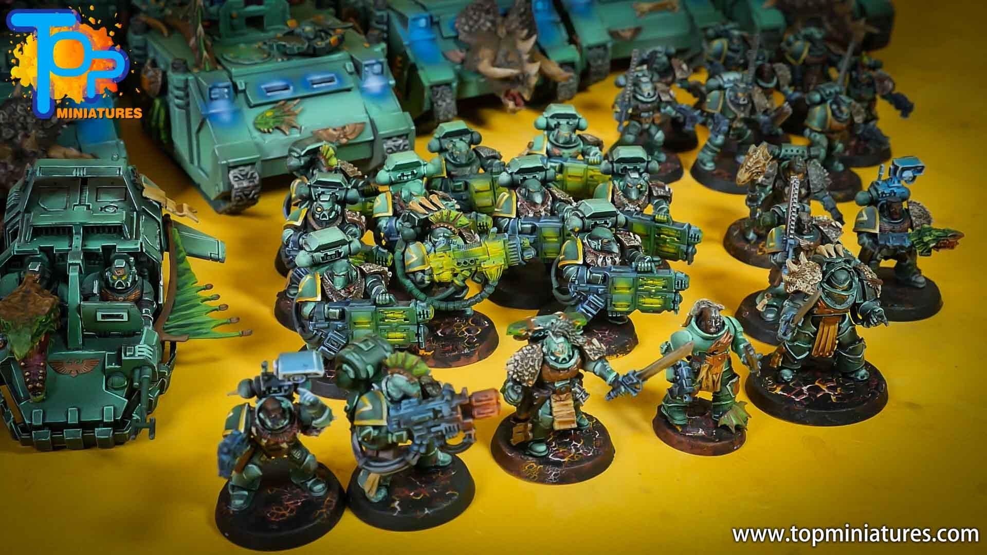salamanders space marines painted army (2)