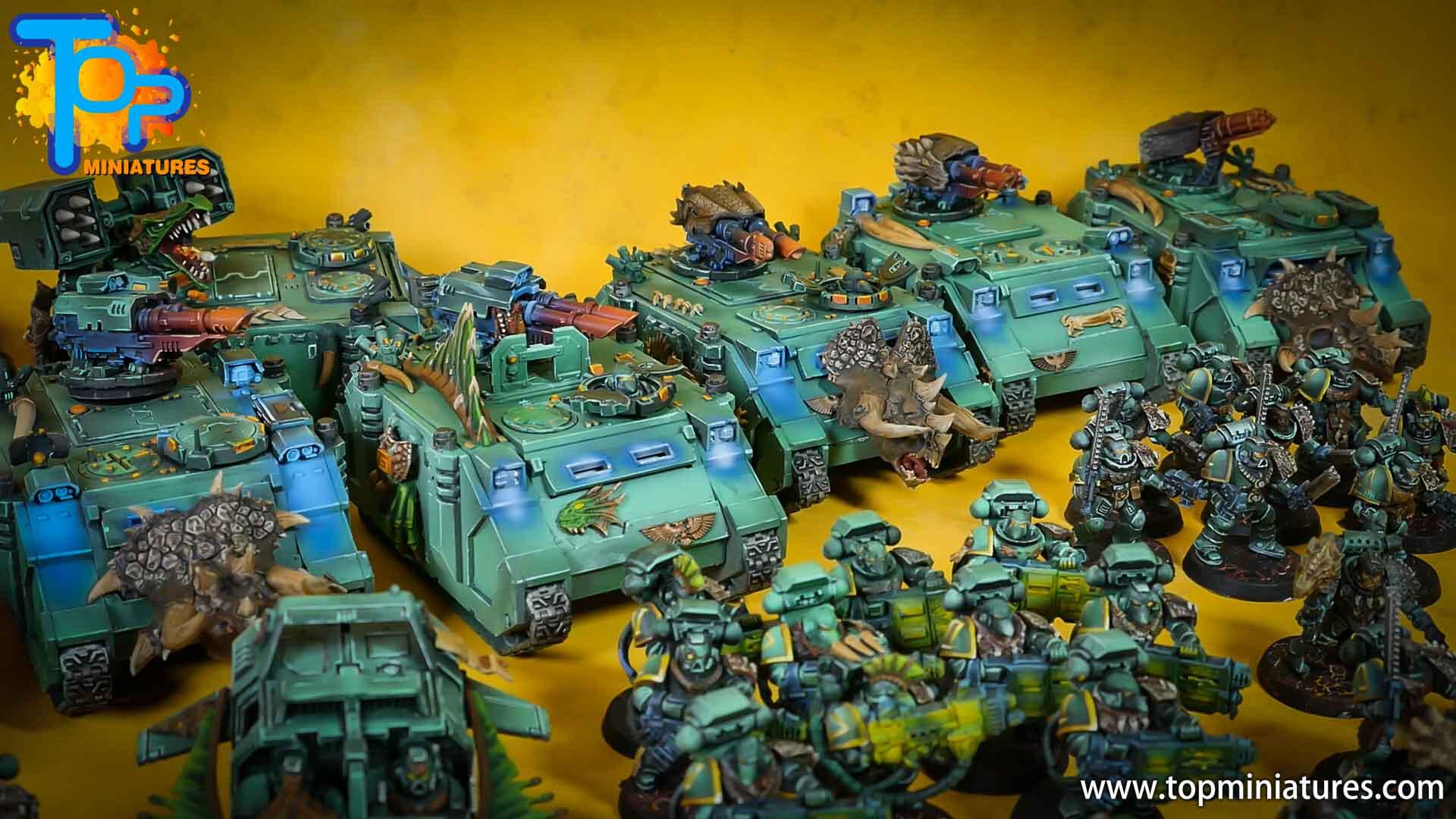 salamanders space marines painted army (3)