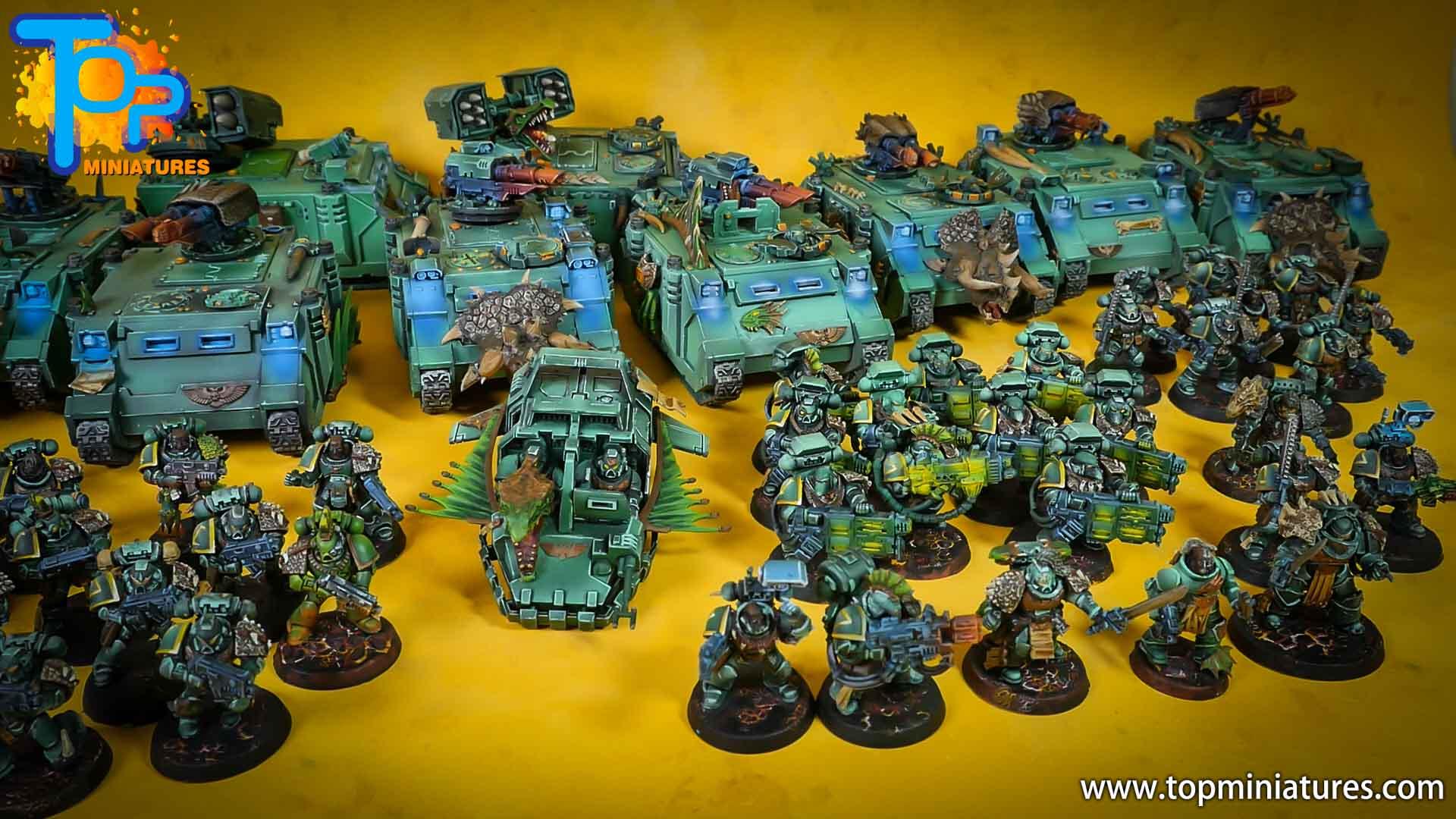 salamanders space marines painted army (5)