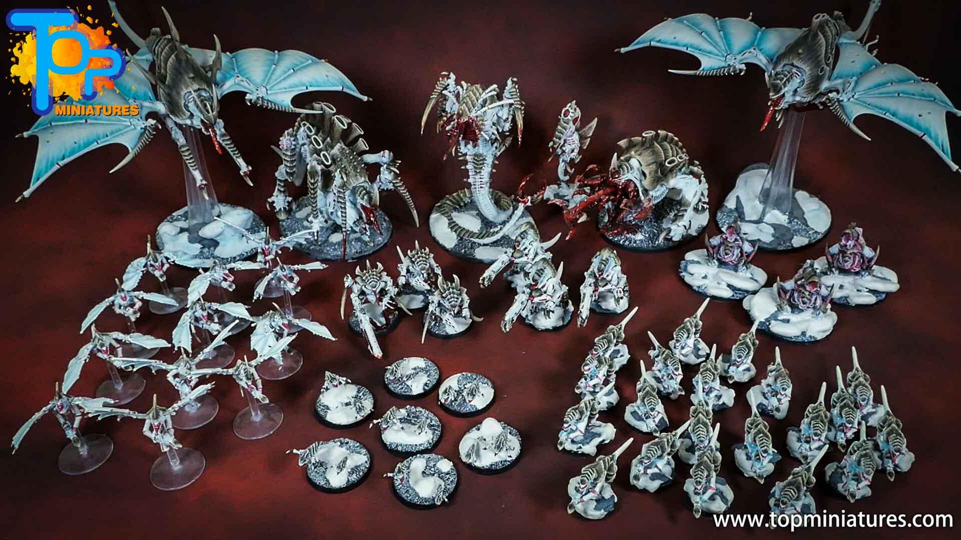 snow white painted tyranids army