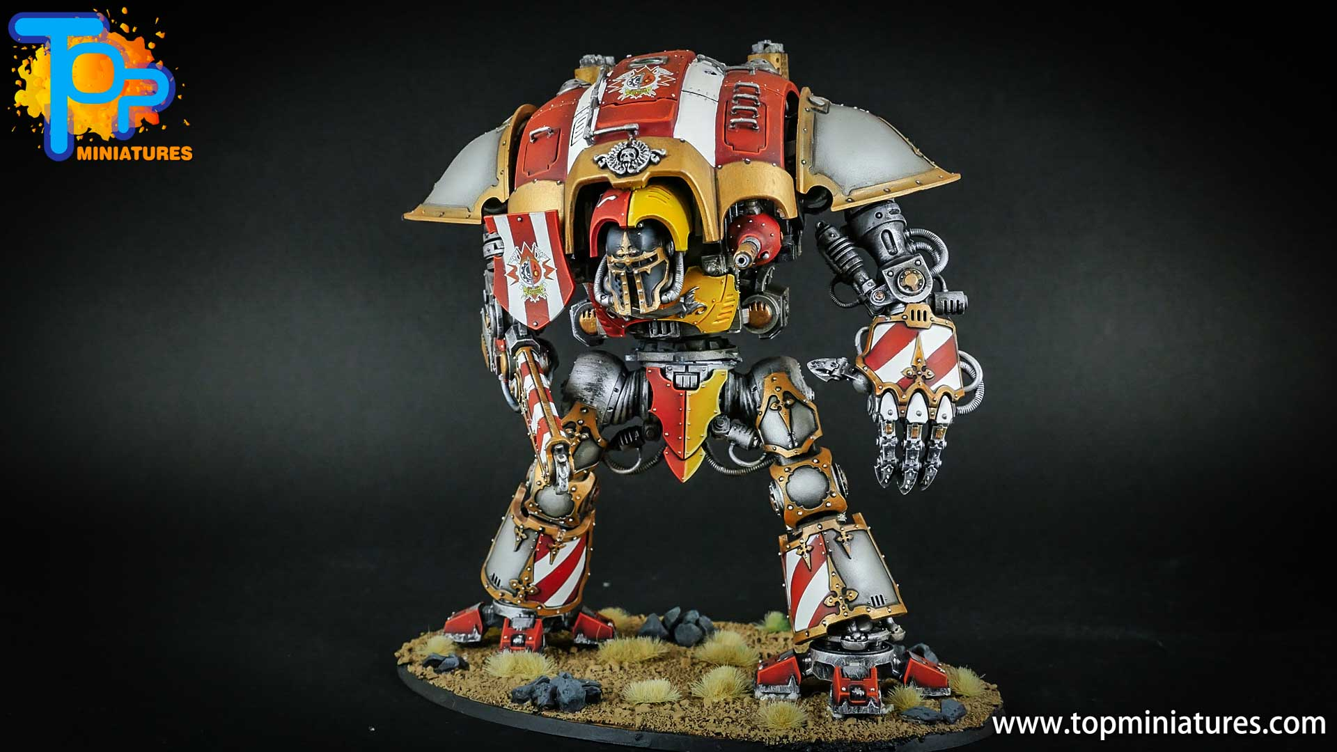 warhammer 40k painted imperial knight (2)