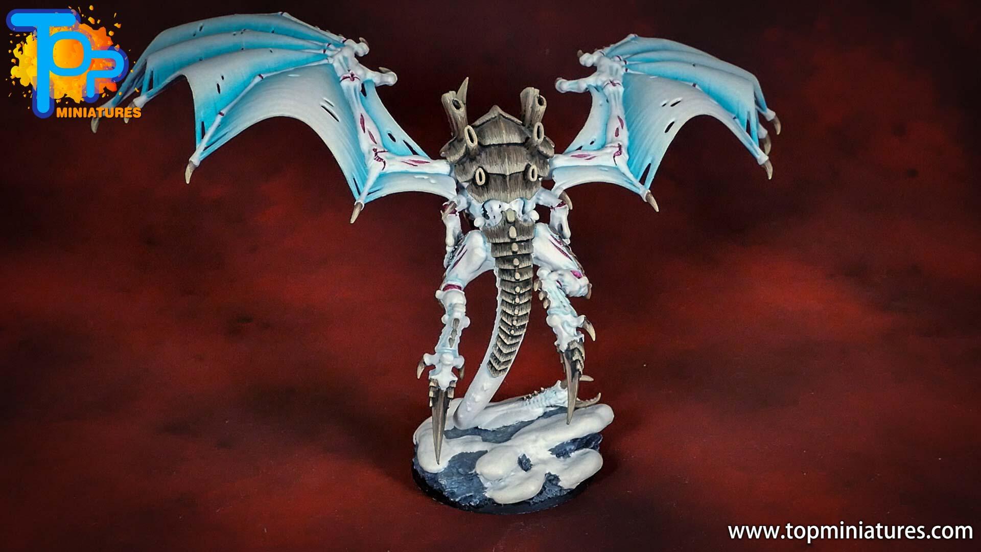 white tyranid flying hive tyrant (1)