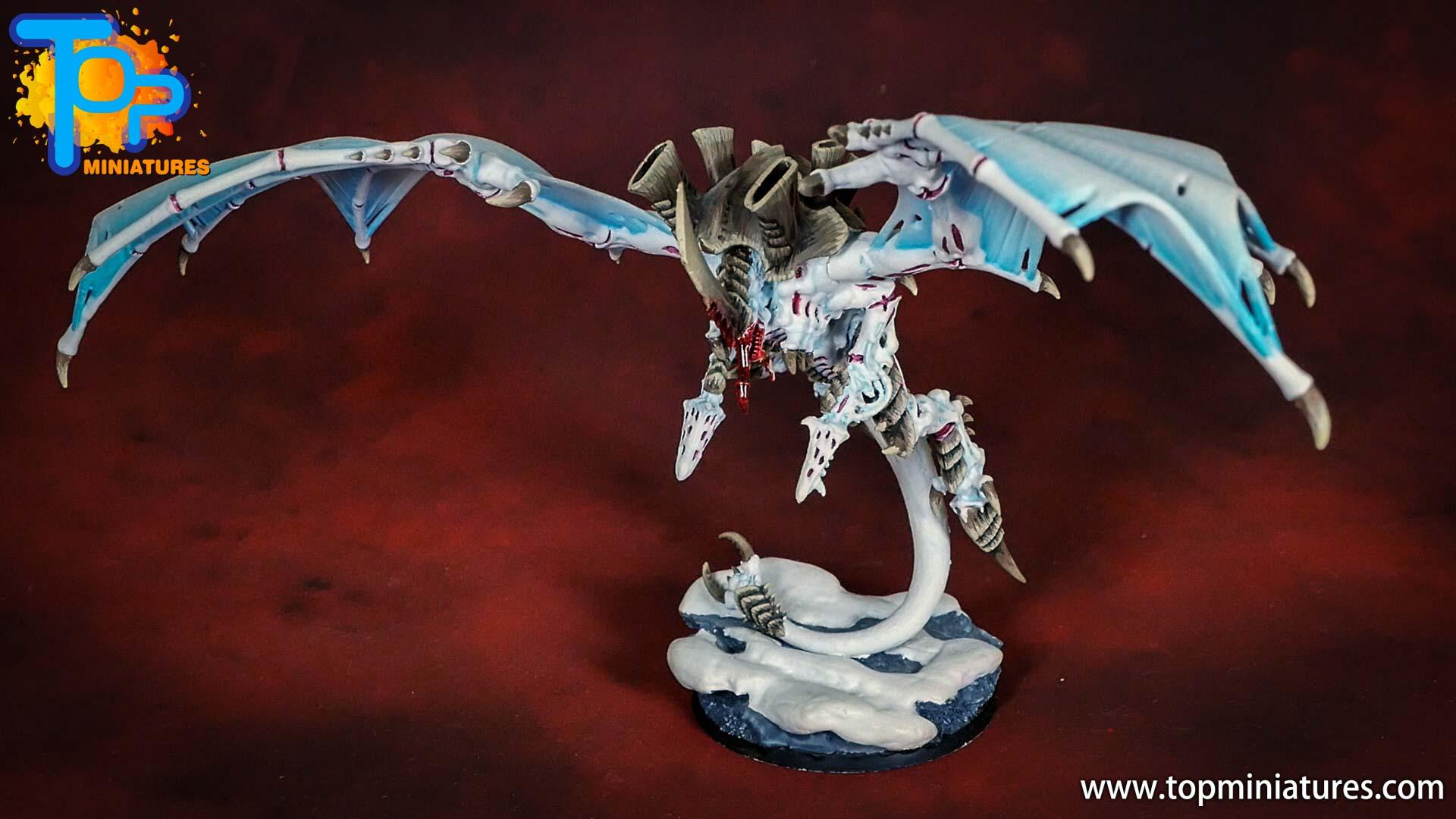 white tyranid flying hive tyrant (2)