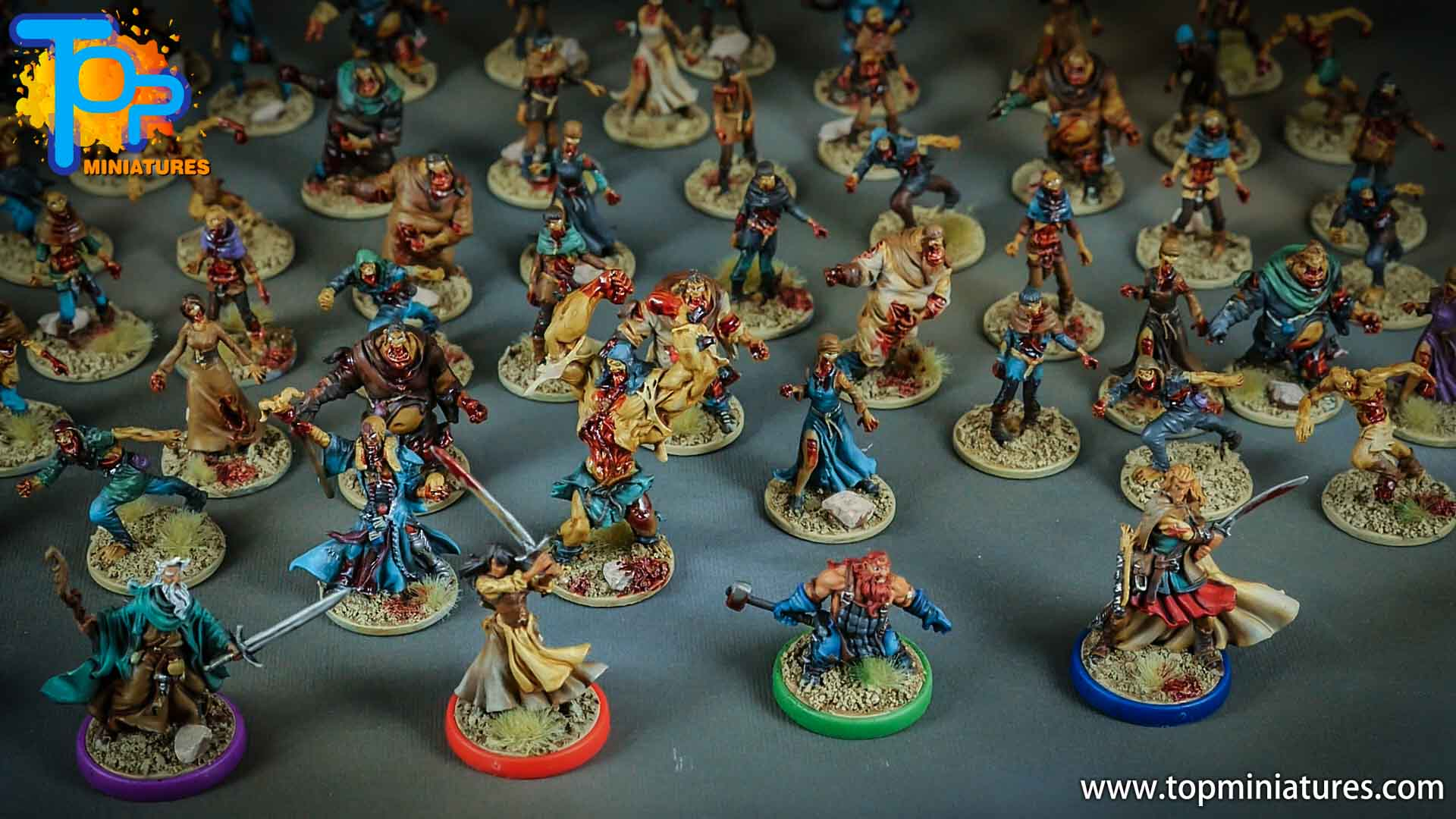 zombicide black plague painted miniatures (1)
