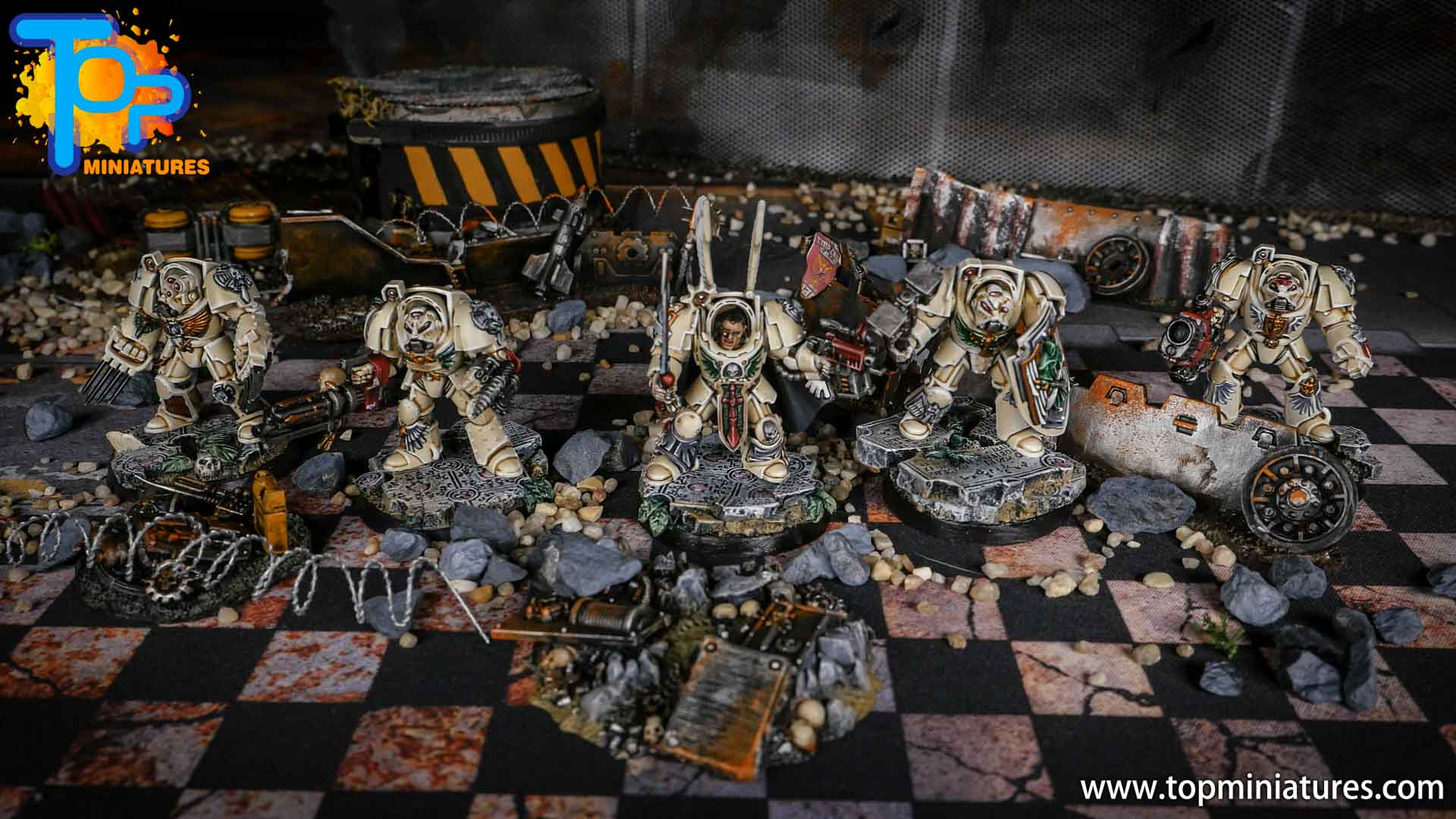 Dark Angels Deathwing Terminators painted (2)
