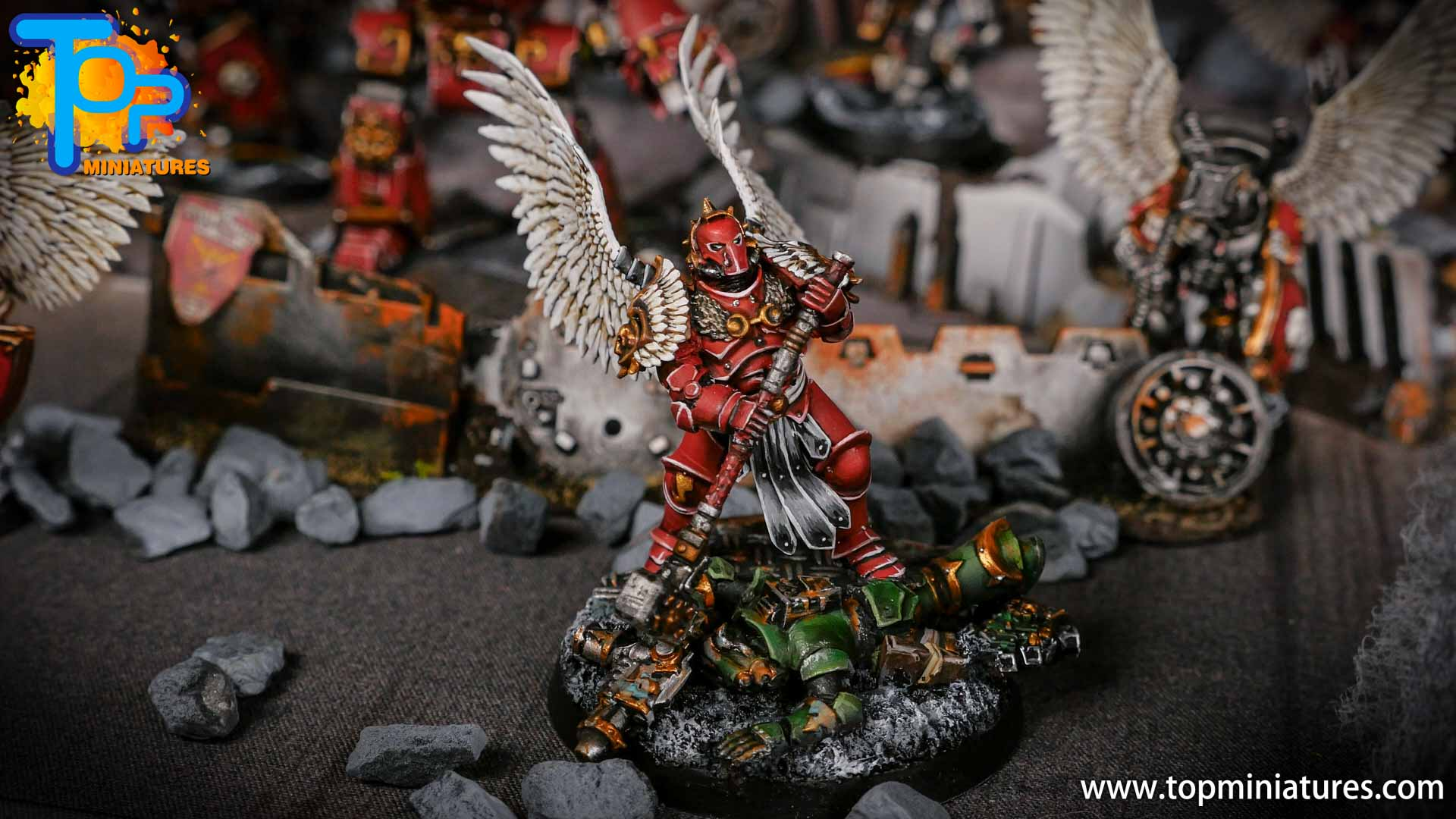 Blood Angels Winged Captain Smash