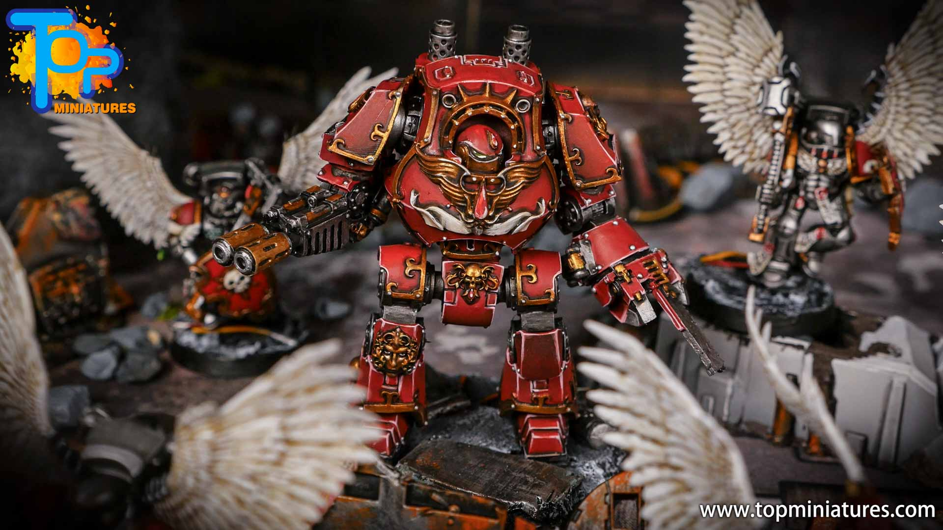 Blood Angels painted Gold Dreadought