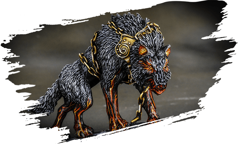 Blood Rage Fenrir monster by top miniatures