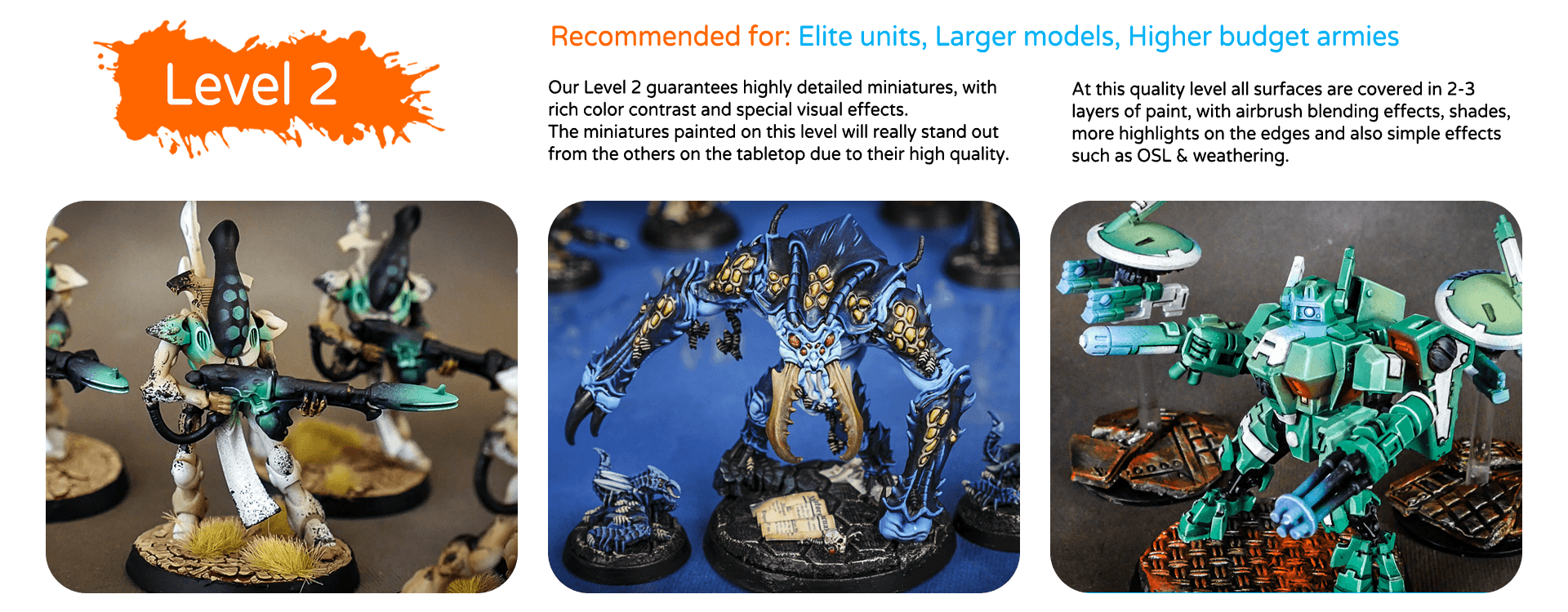 painting quality levels & price list top miniatures (3)
