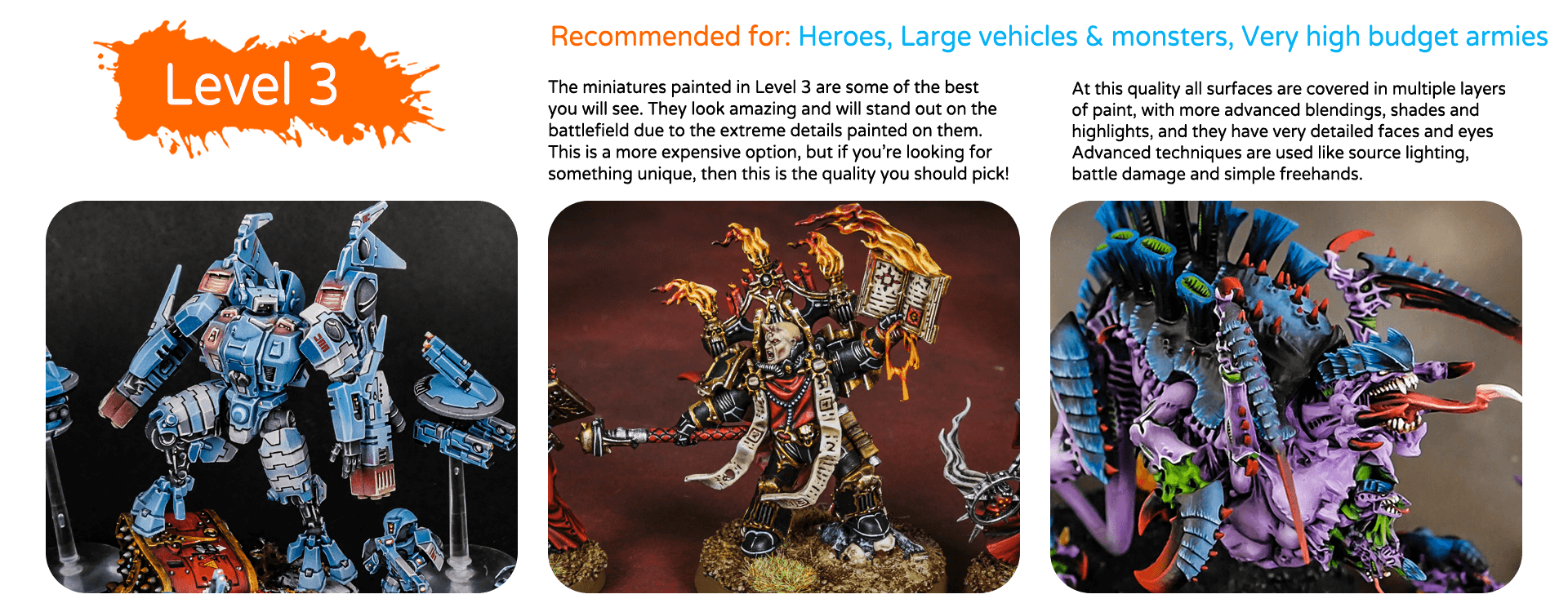 painting quality levels & price list top miniatures (4)
