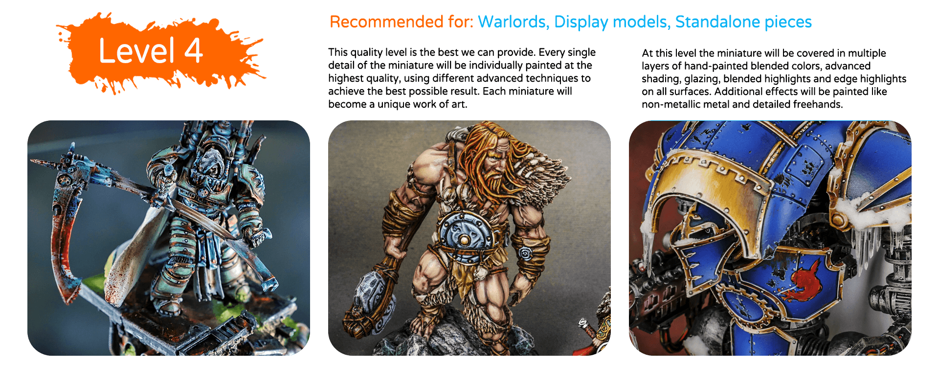 painting quality levels & price list top miniatures (5)