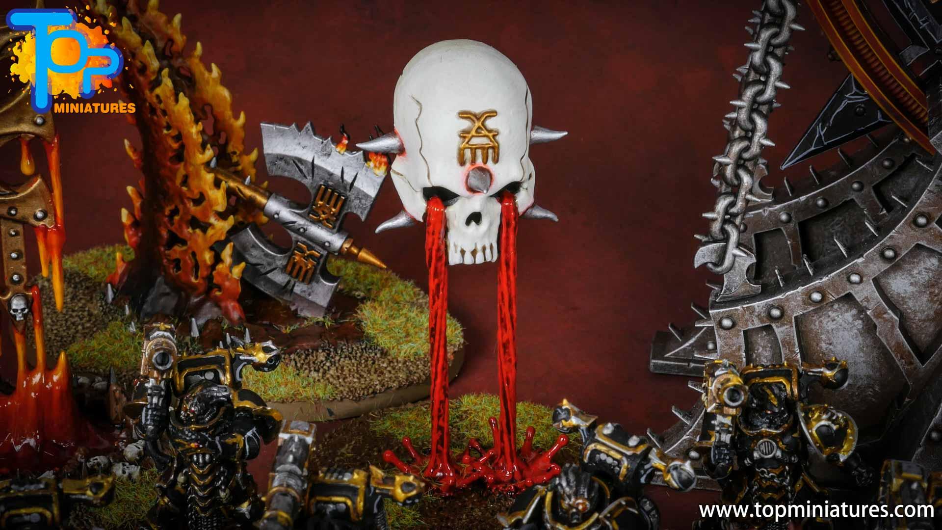 Black legion painted hexgorger skulls (2)