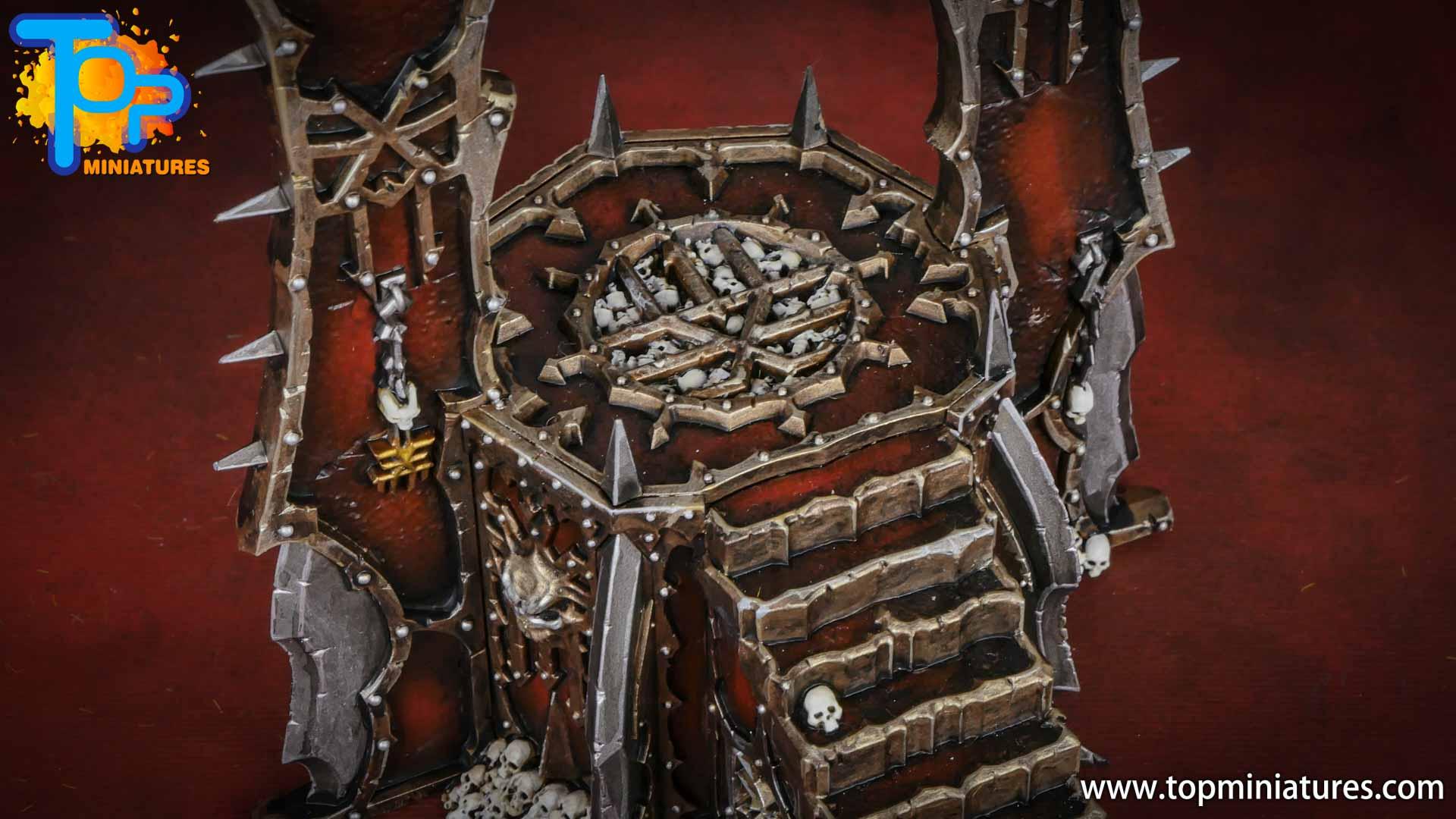 Black legion painted skull altar (4)