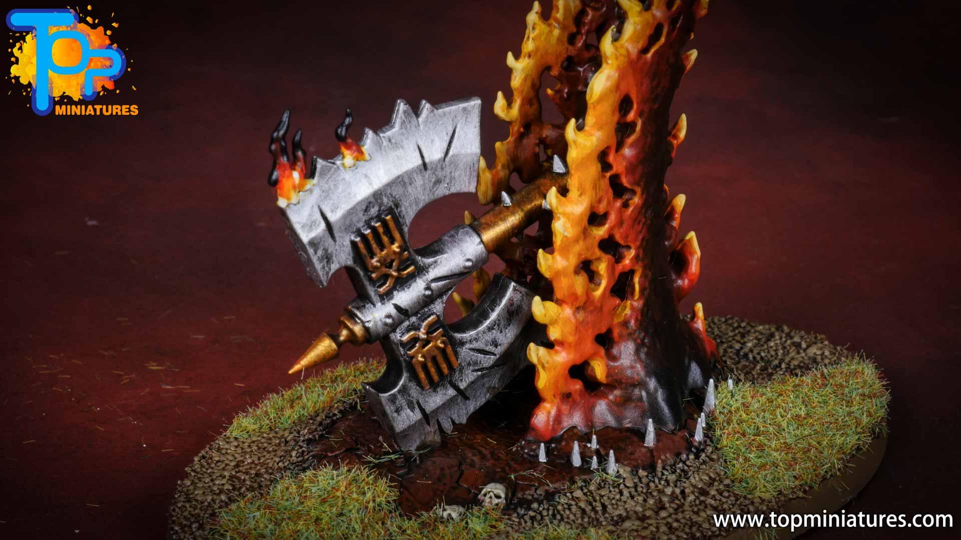 Black legion painted wrath axe (1)