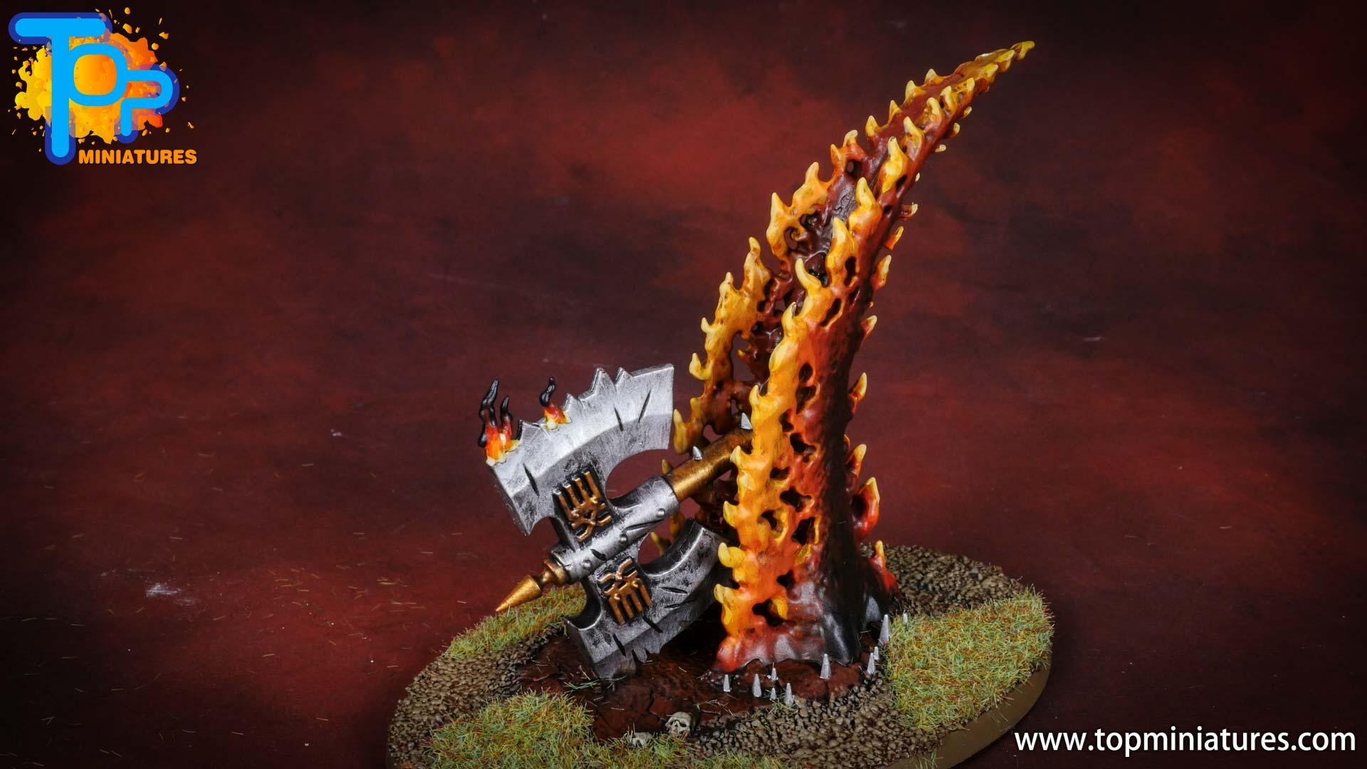 Black legion painted wrath axe (2)
