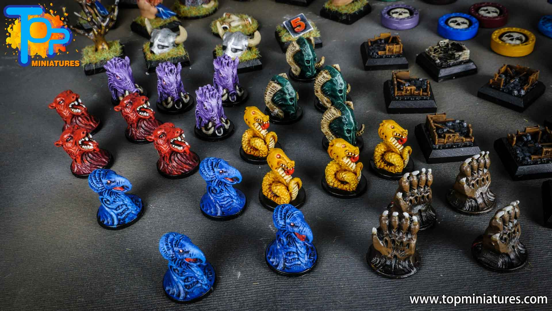 Blood rage painted clan tokens (1)