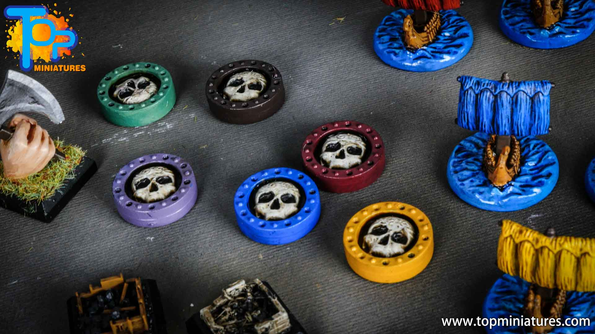 Blood rage painted clan tokens (2)