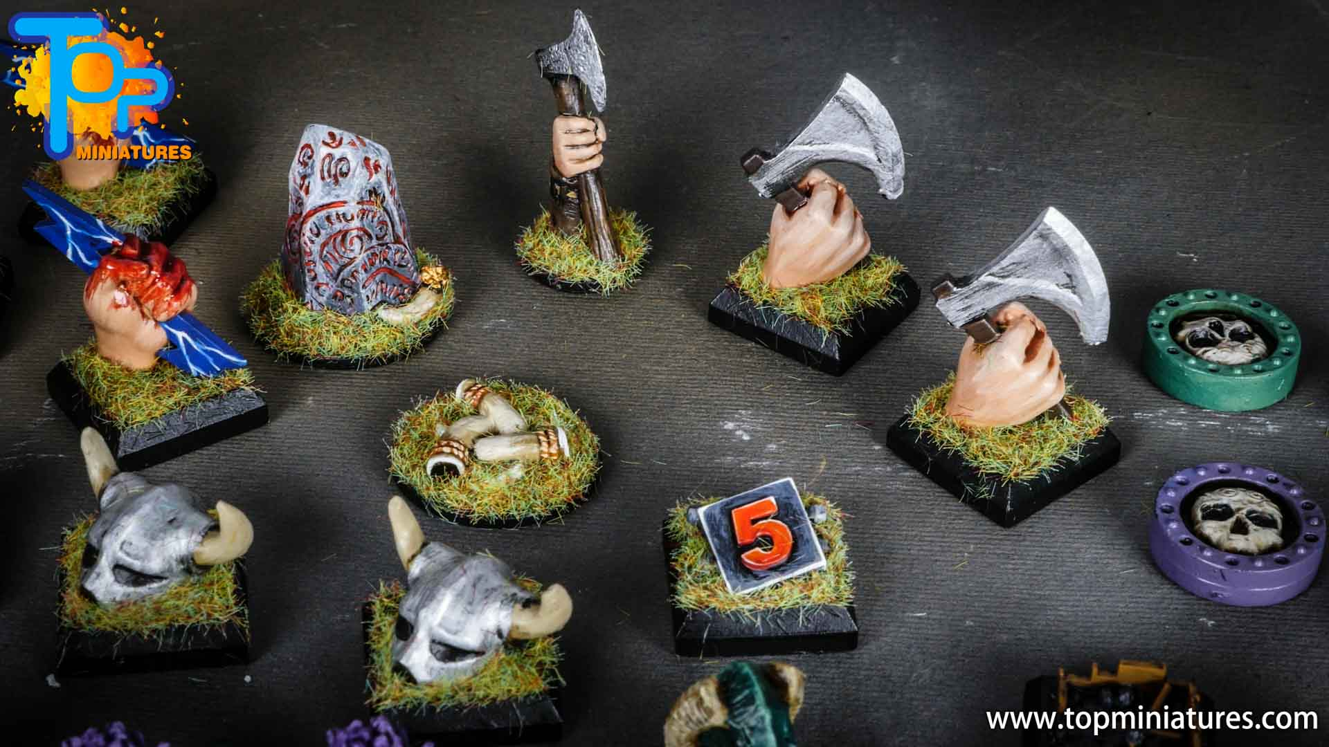 Blood rage painted clan tokens (3)
