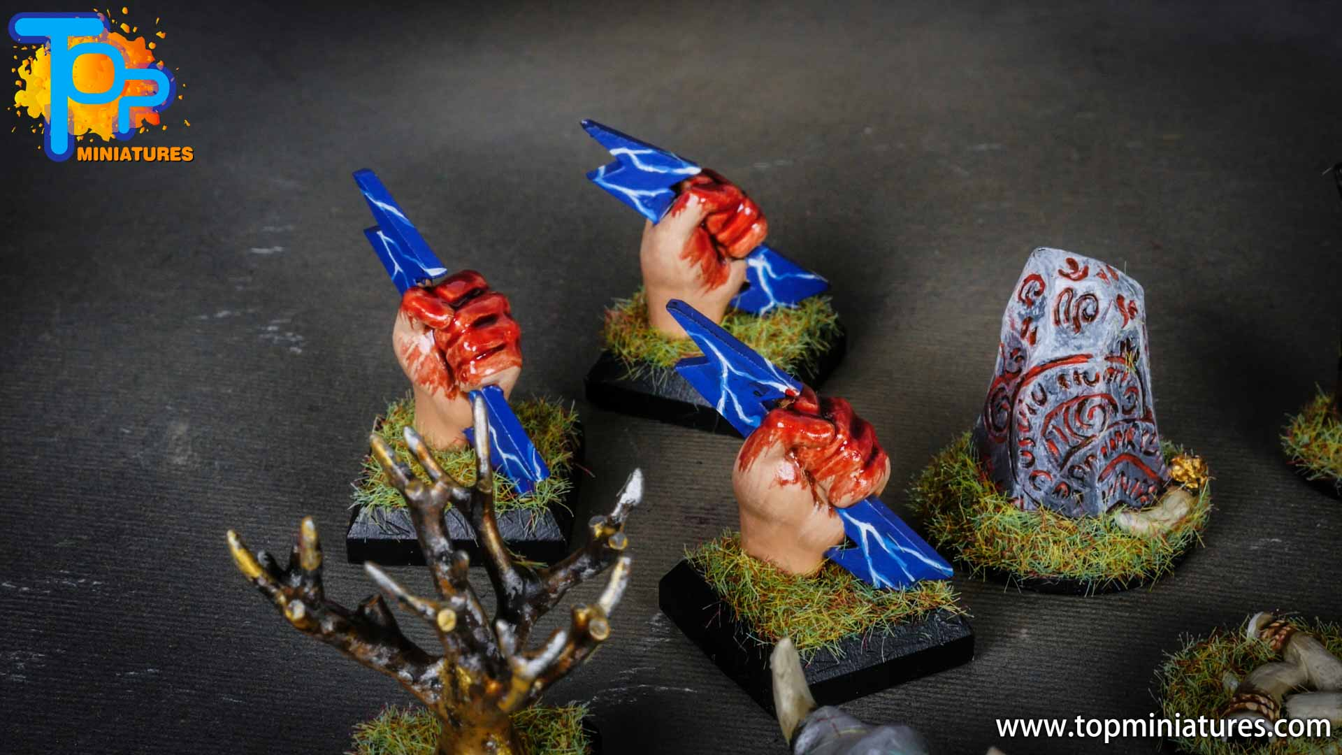 Blood rage painted clan tokens (4)