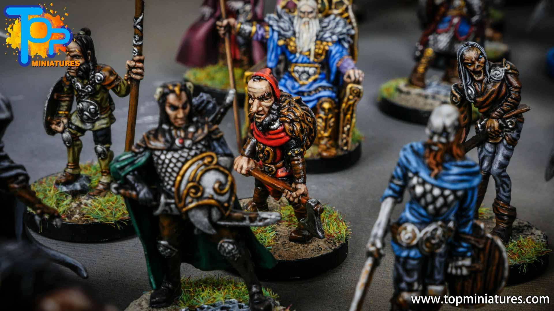 Blood rage painted dwarf chieftain