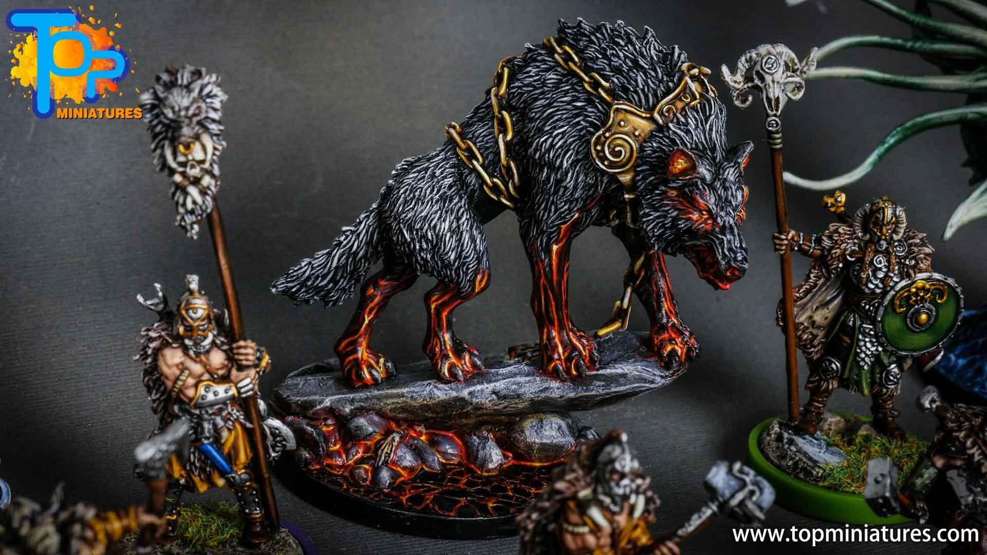 Blood rage painted fenrir monster (2)