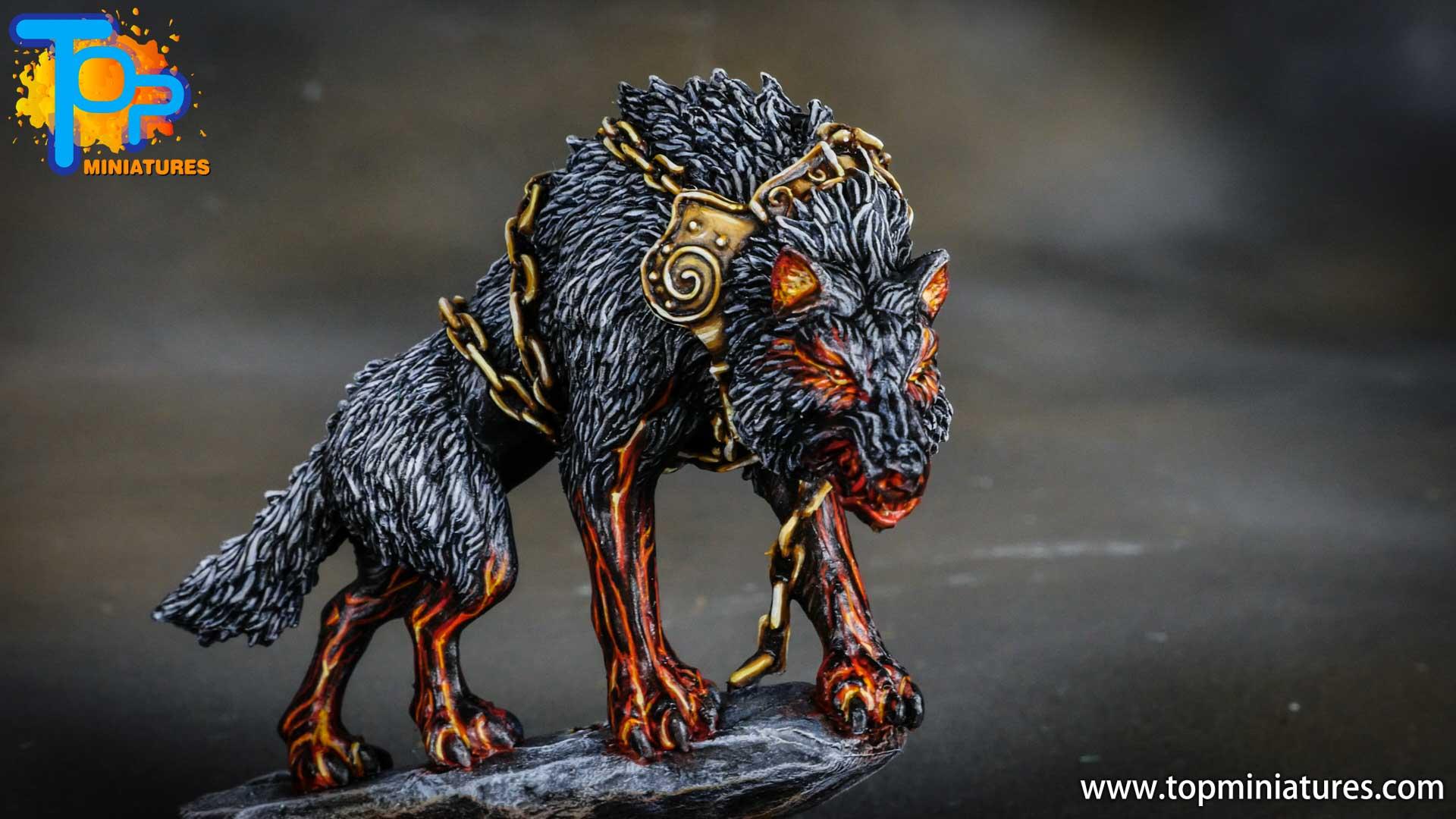 Blood rage painted fenrir monster (3)