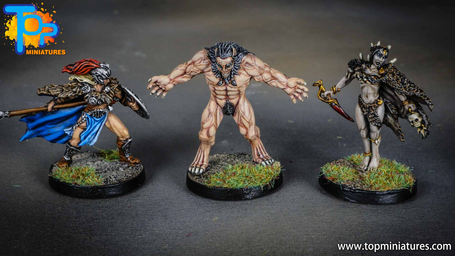 Blood rage painted monsters (2)
