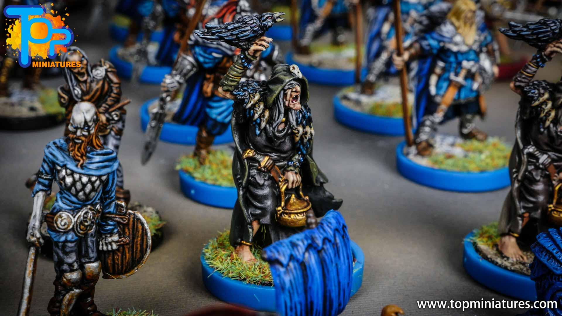Blood rage painted raven shaman