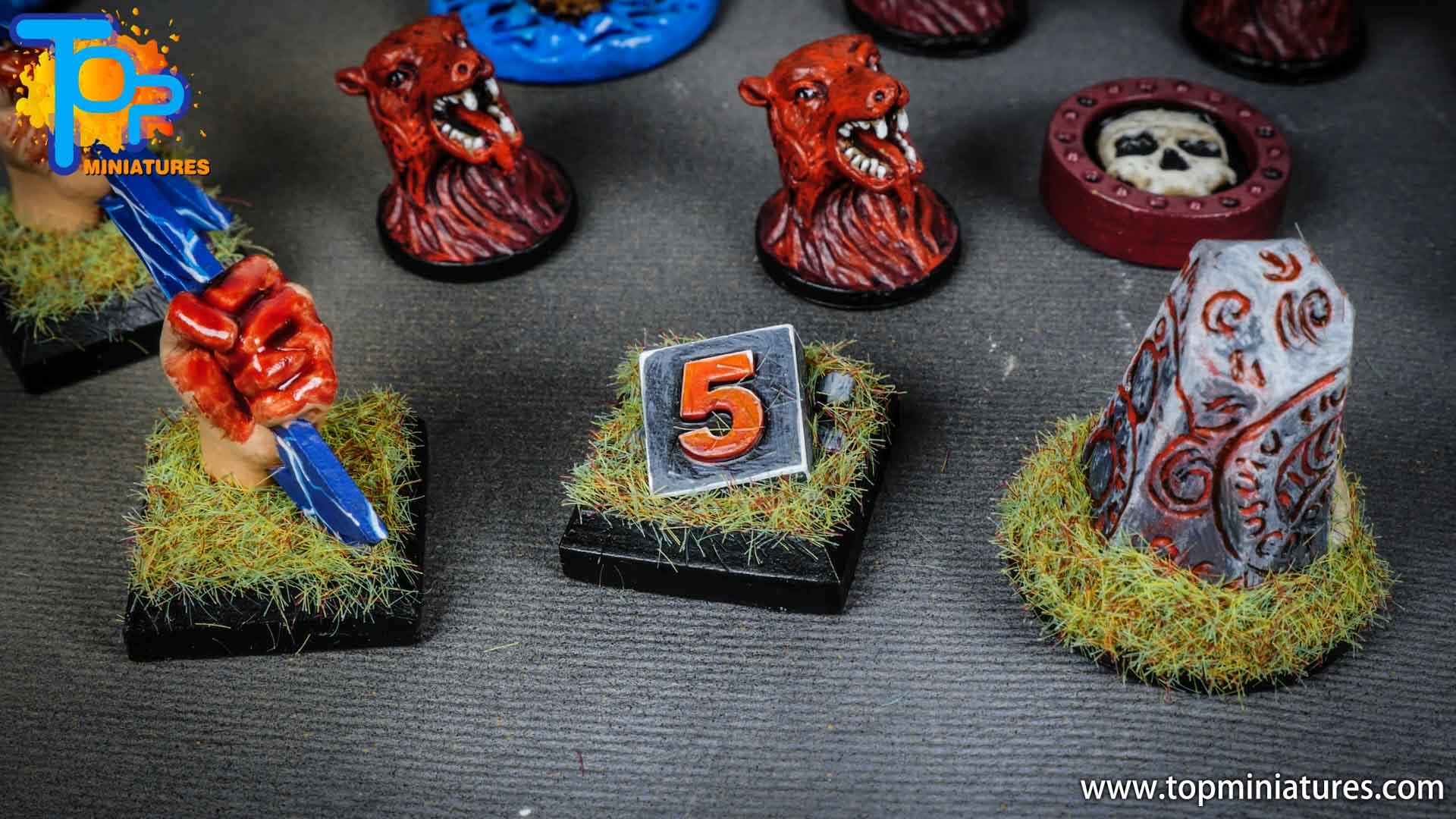 Blood rage painted tokens (1)