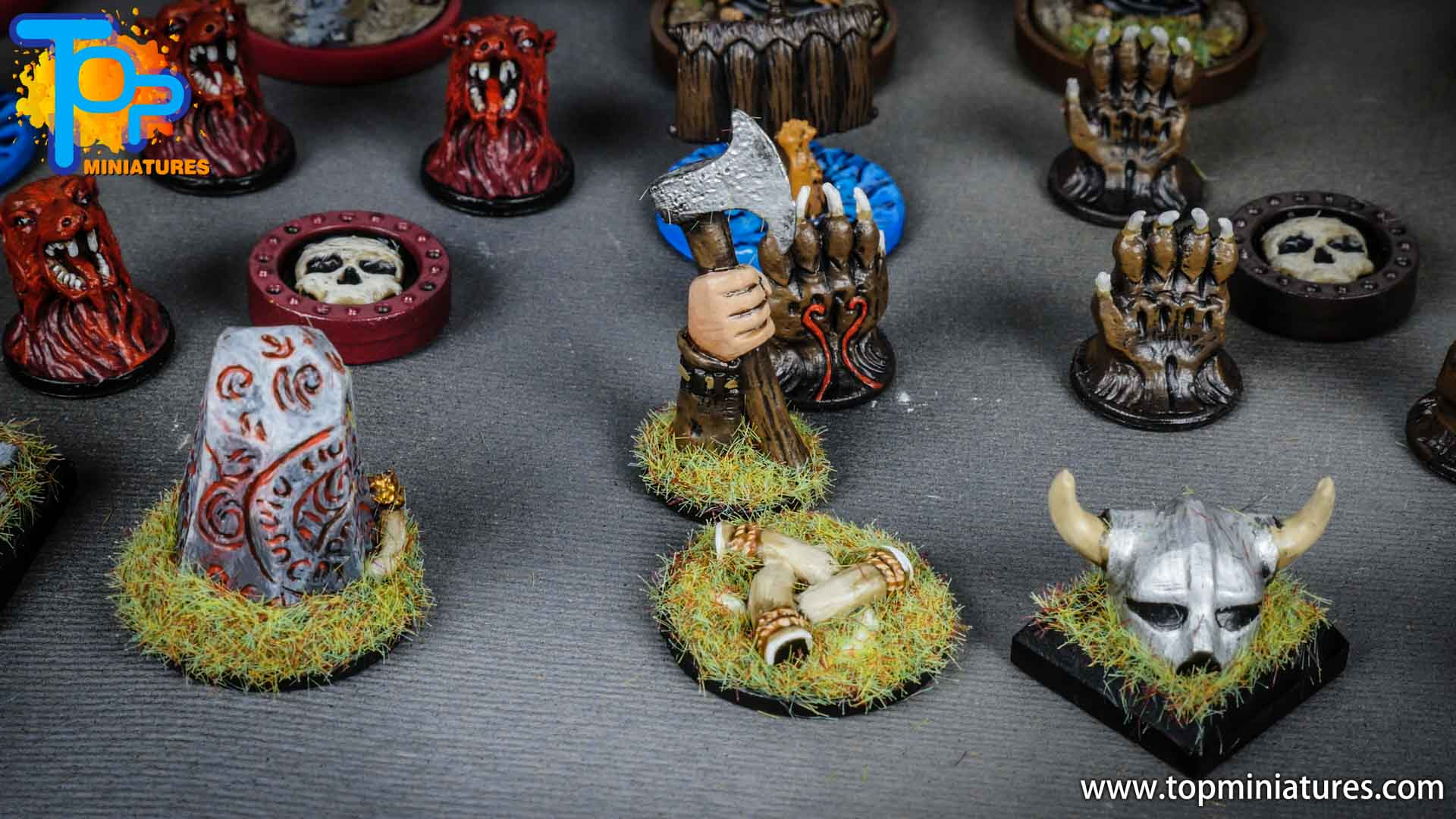 Blood rage painted tokens (4)
