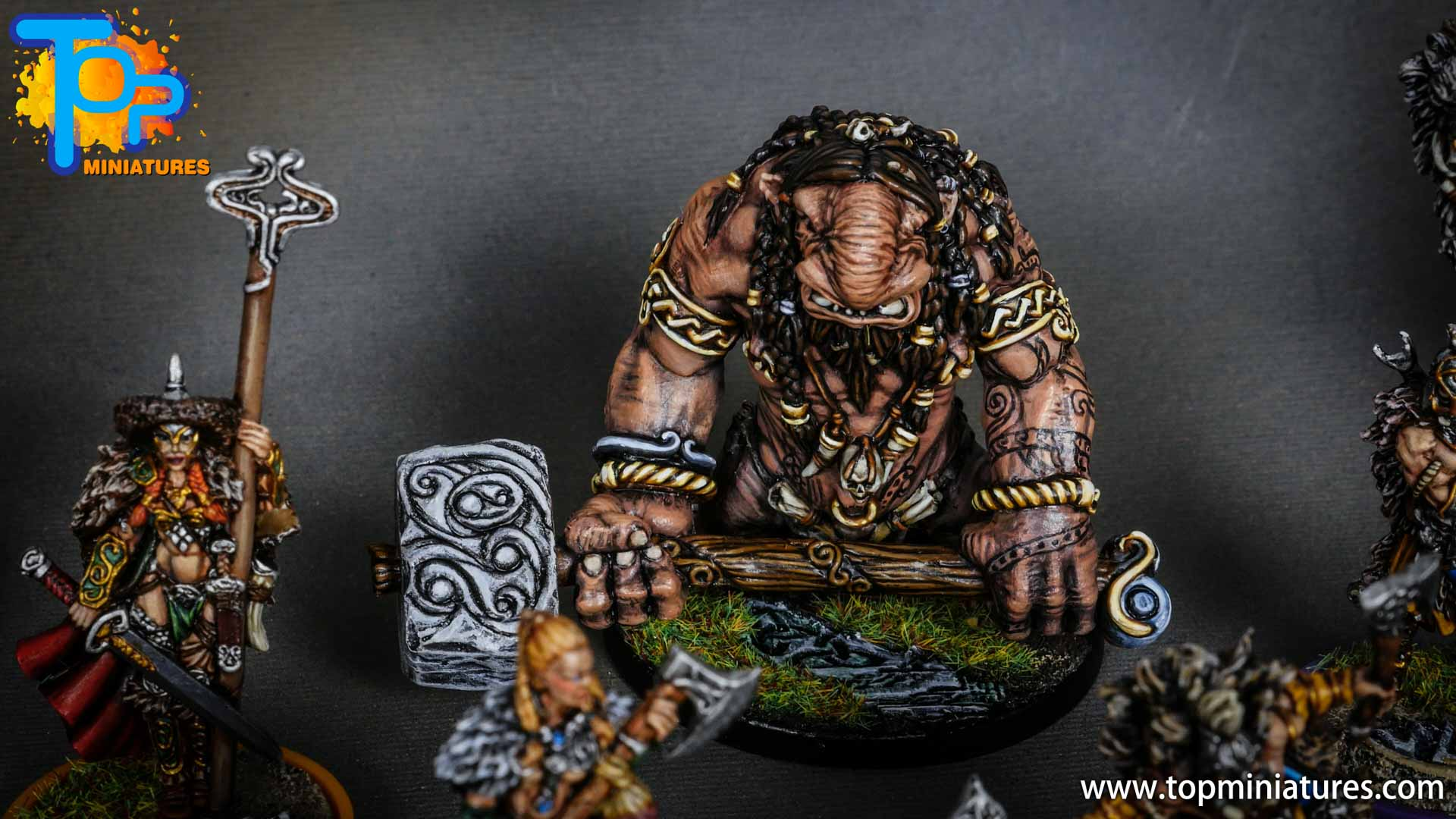Blood rage painted troll (1)
