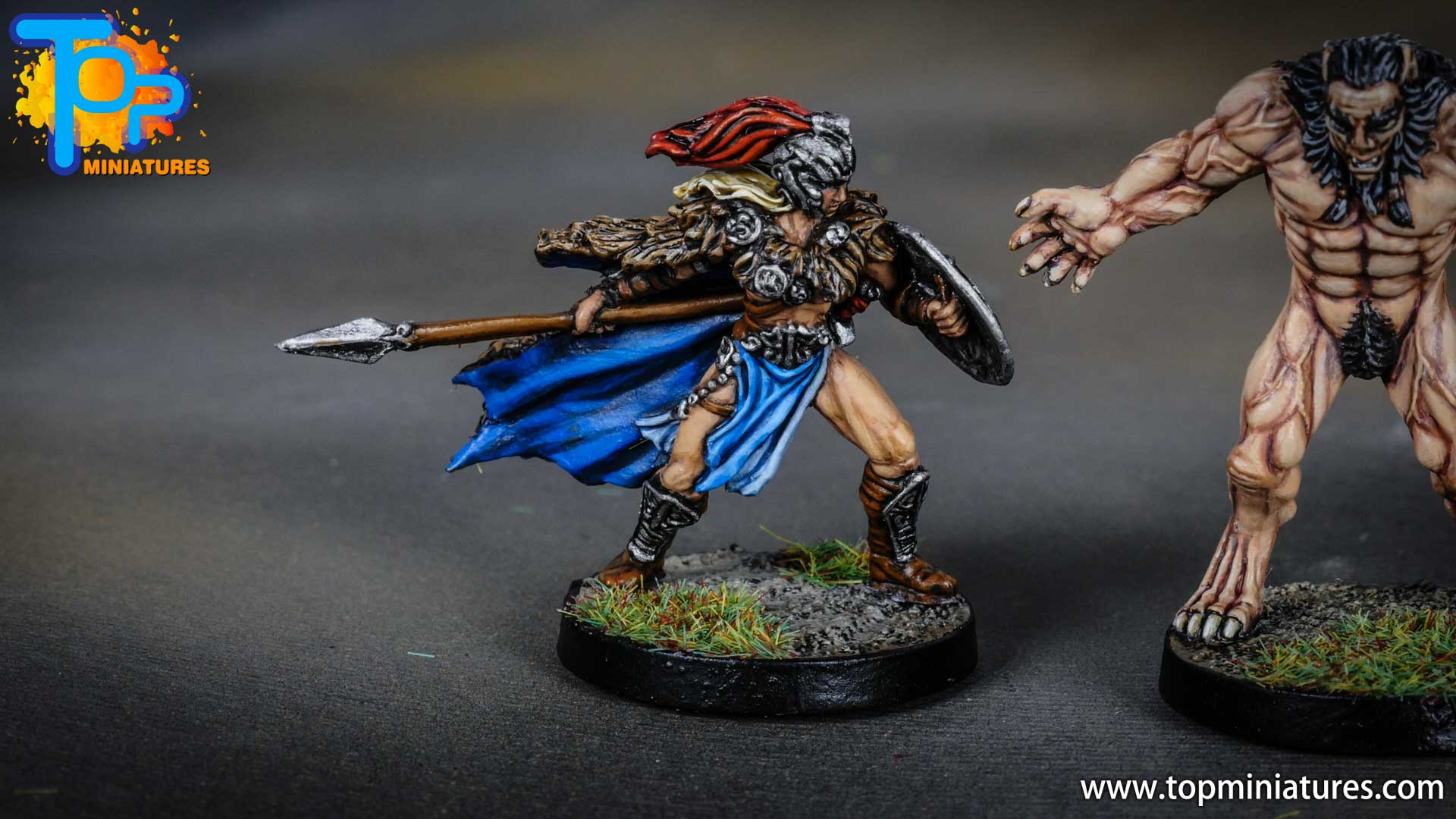 Blood rage painted valkyrie