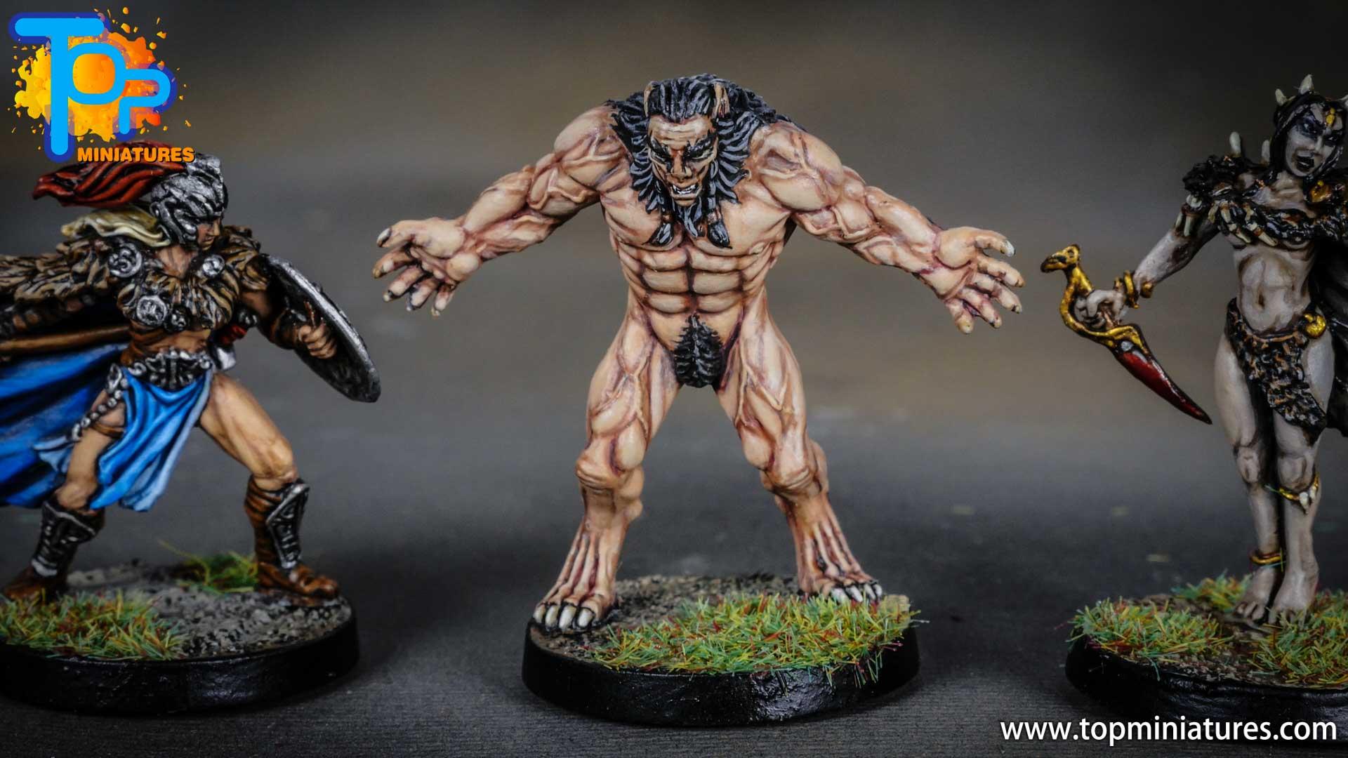 Blood rage painted wolfman