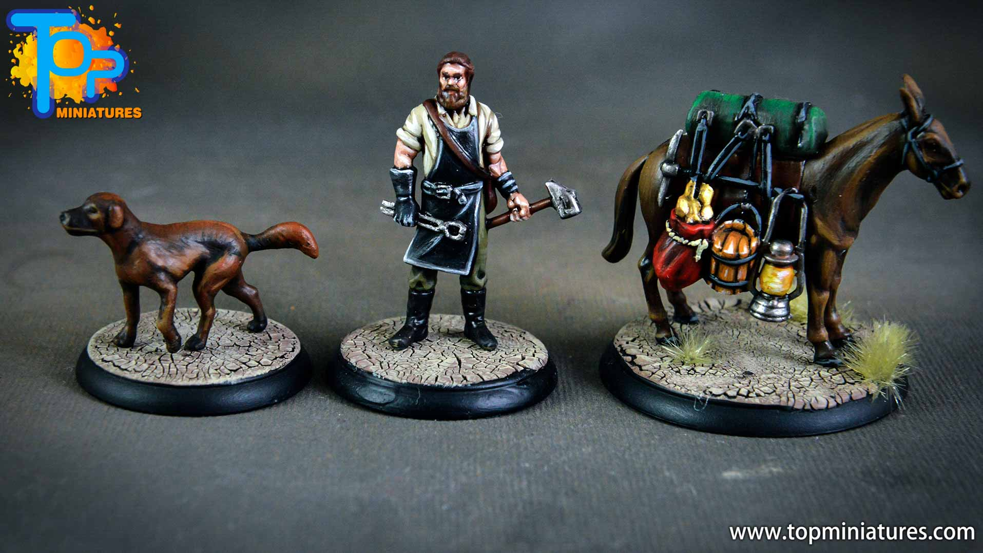 Shadows of Brimstone blacksmith, dog & mule (1)