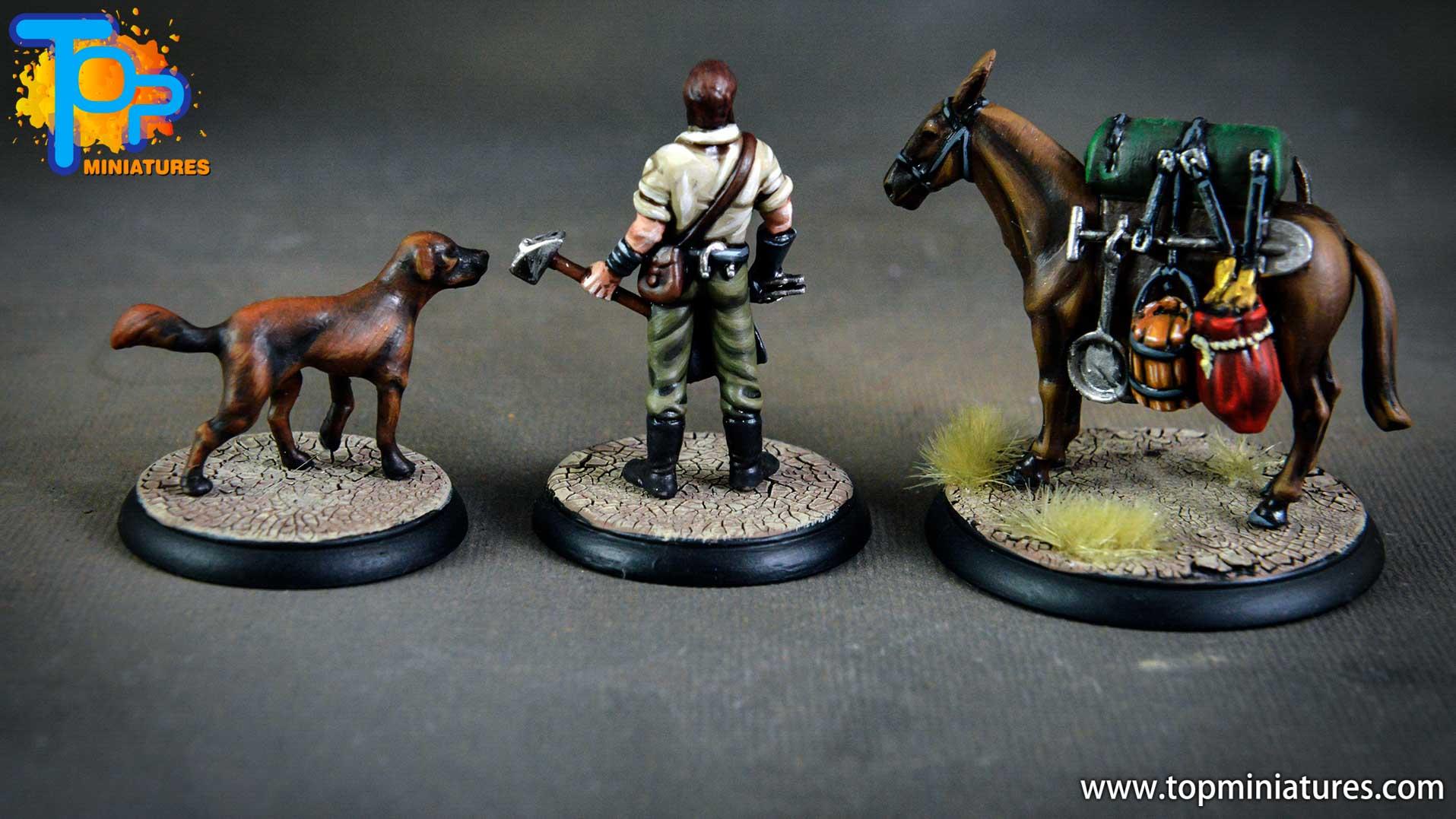Shadows of Brimstone blacksmith, dog & mule (2)